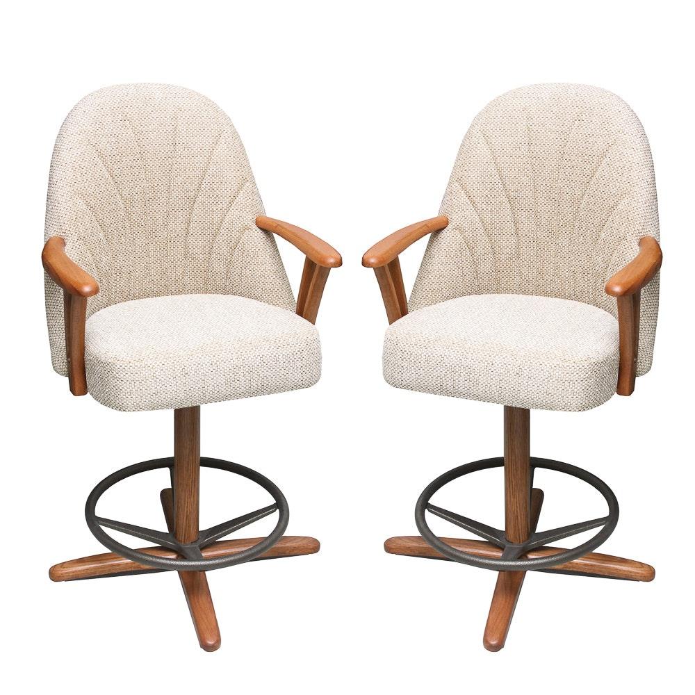 Contemporary Upholstered Swivel Barstools
