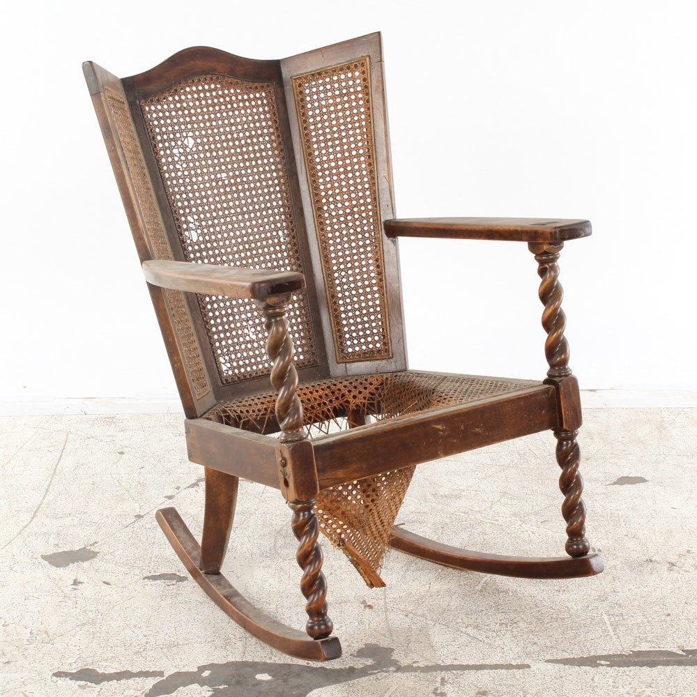 Antique Cane Rocking Chair ...