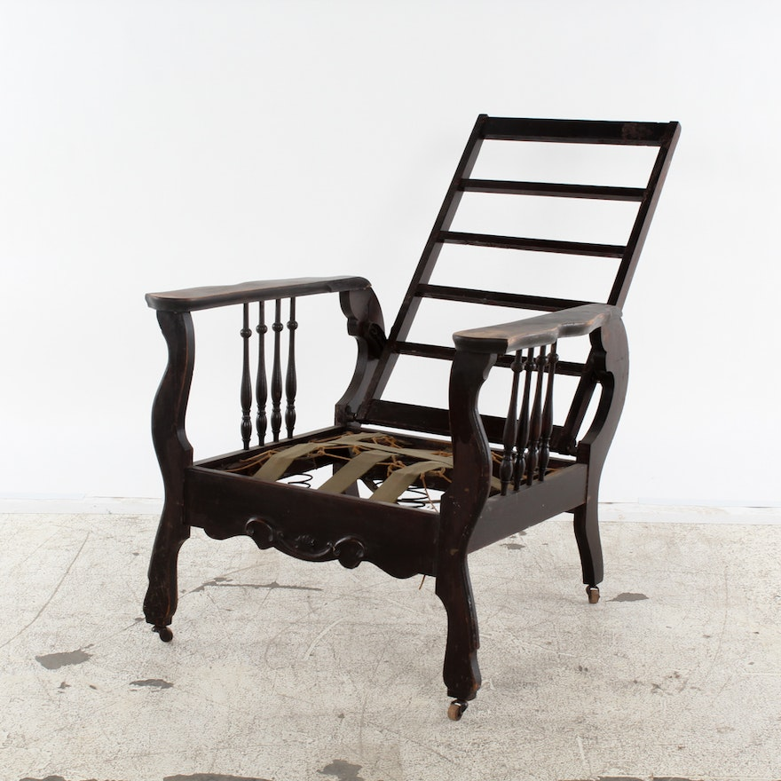 - Antique Reclining Chair By Cook & Co. : EBTH