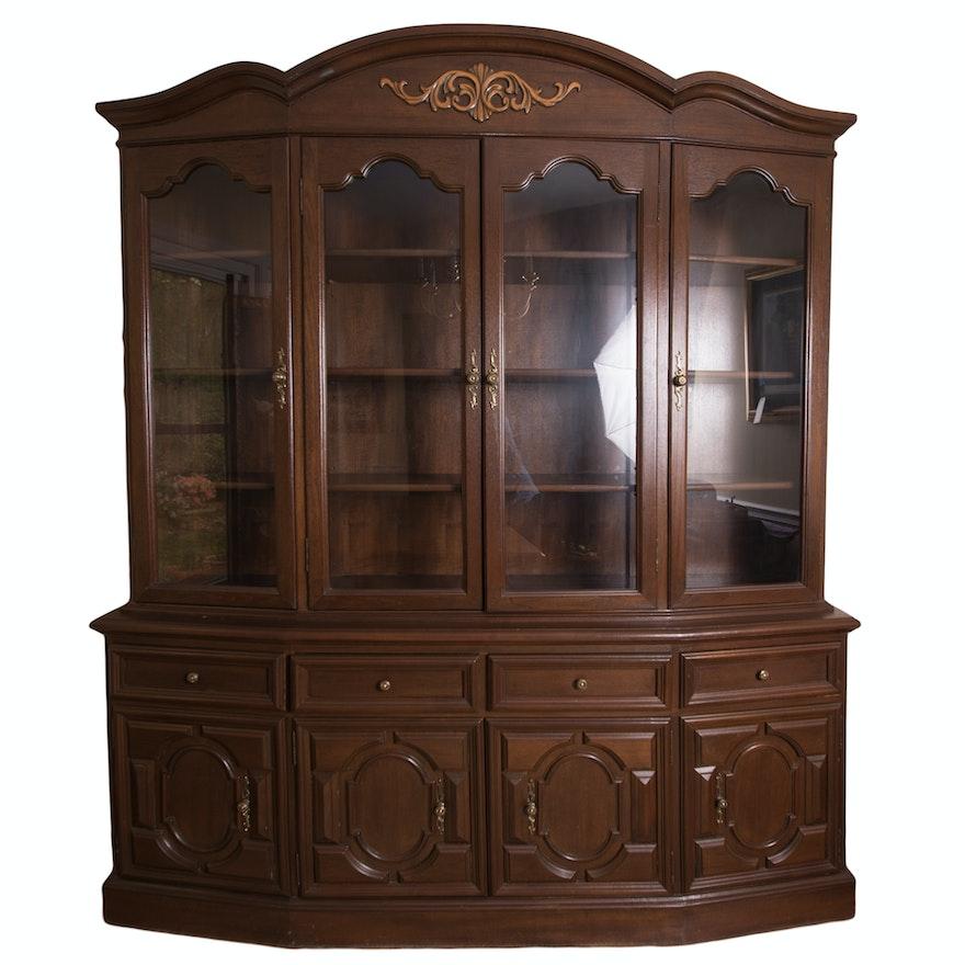 Vintage Cherry China Cabinet