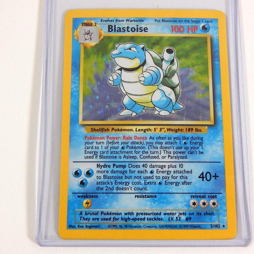 """Original 1990s Pokemon Hologram """"Blastoise"""" Trading Card 2"""