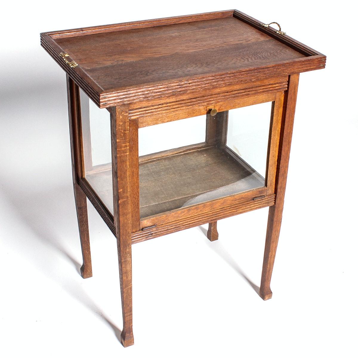 Antique Oak Dutch Tea Table