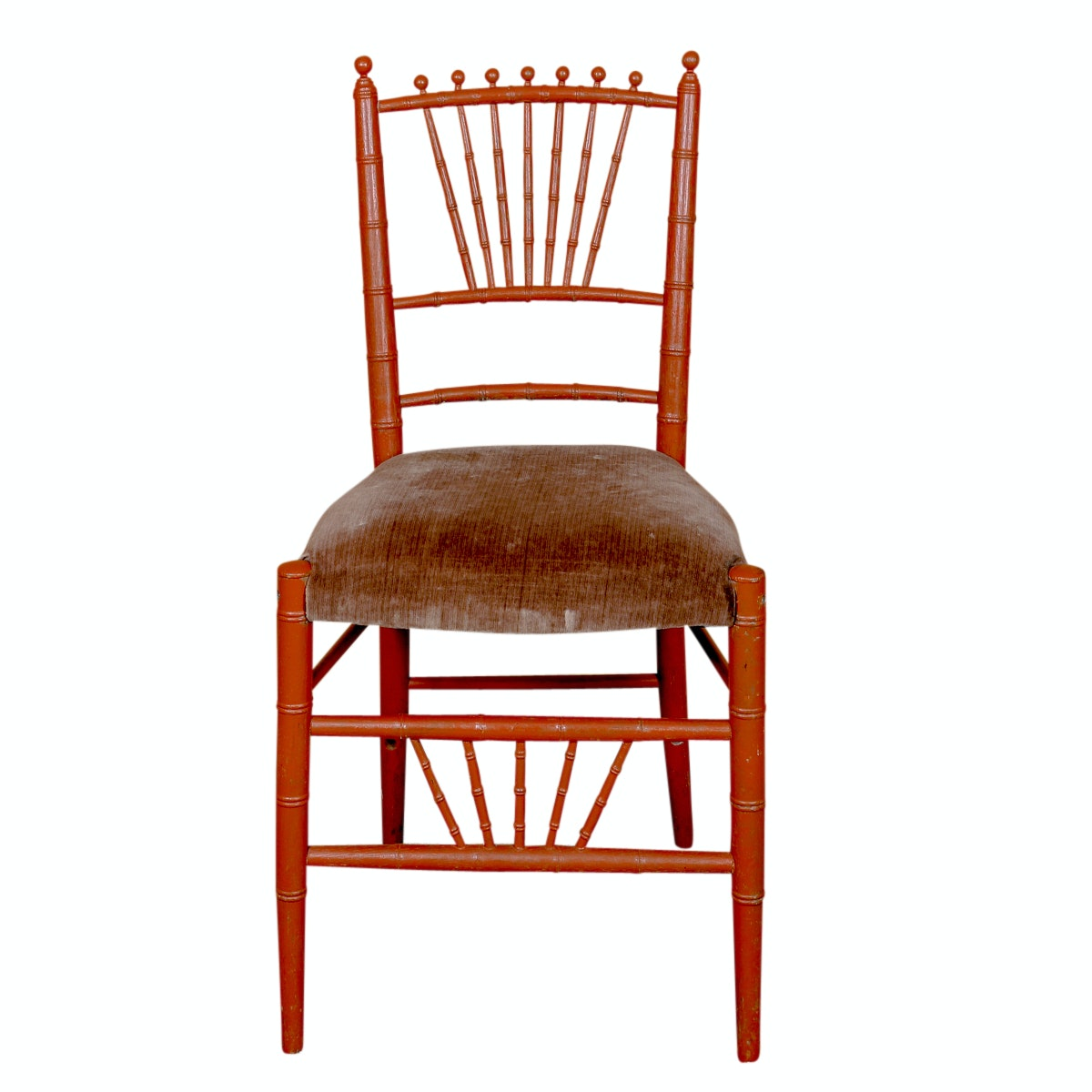 Painted Bamboo Style Side Chair