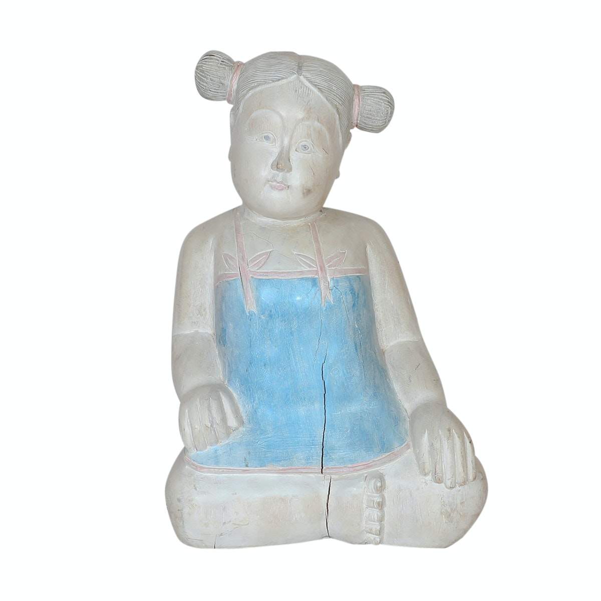 Chinese Wooden Sculpture of Sitting Figure