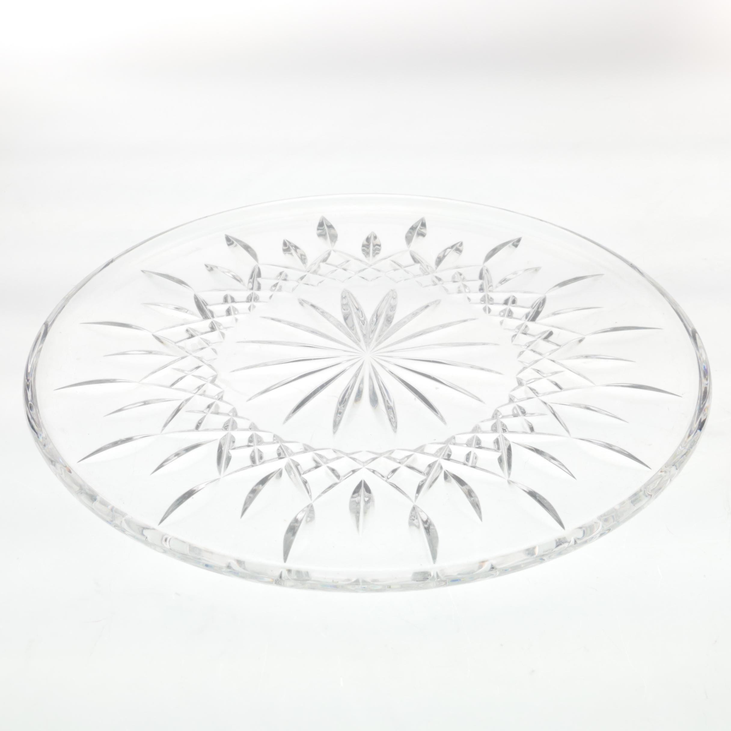 "Waterford Crystal ""Lismore"" Plate"