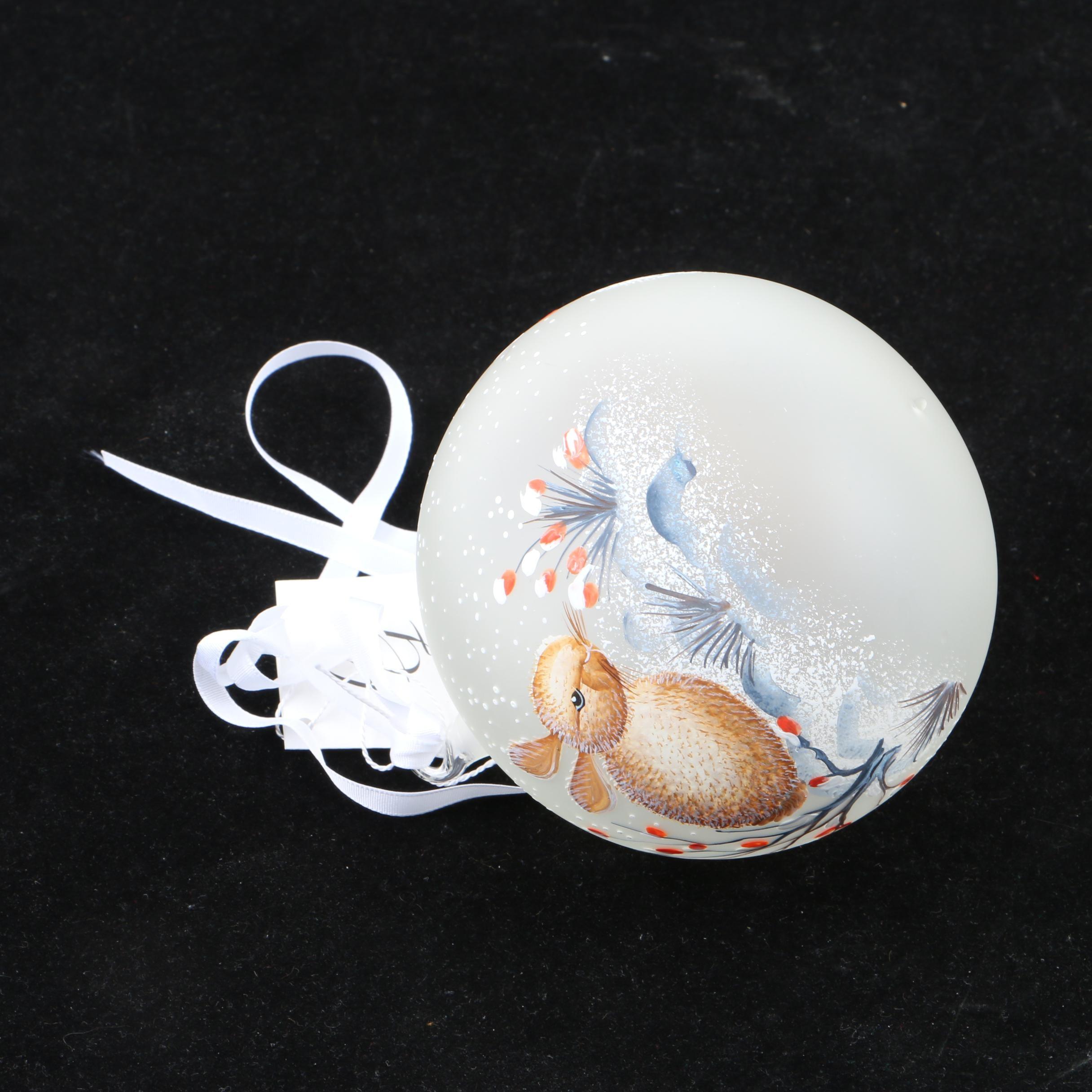 RG Glass Christmas Ornament with Rabbit