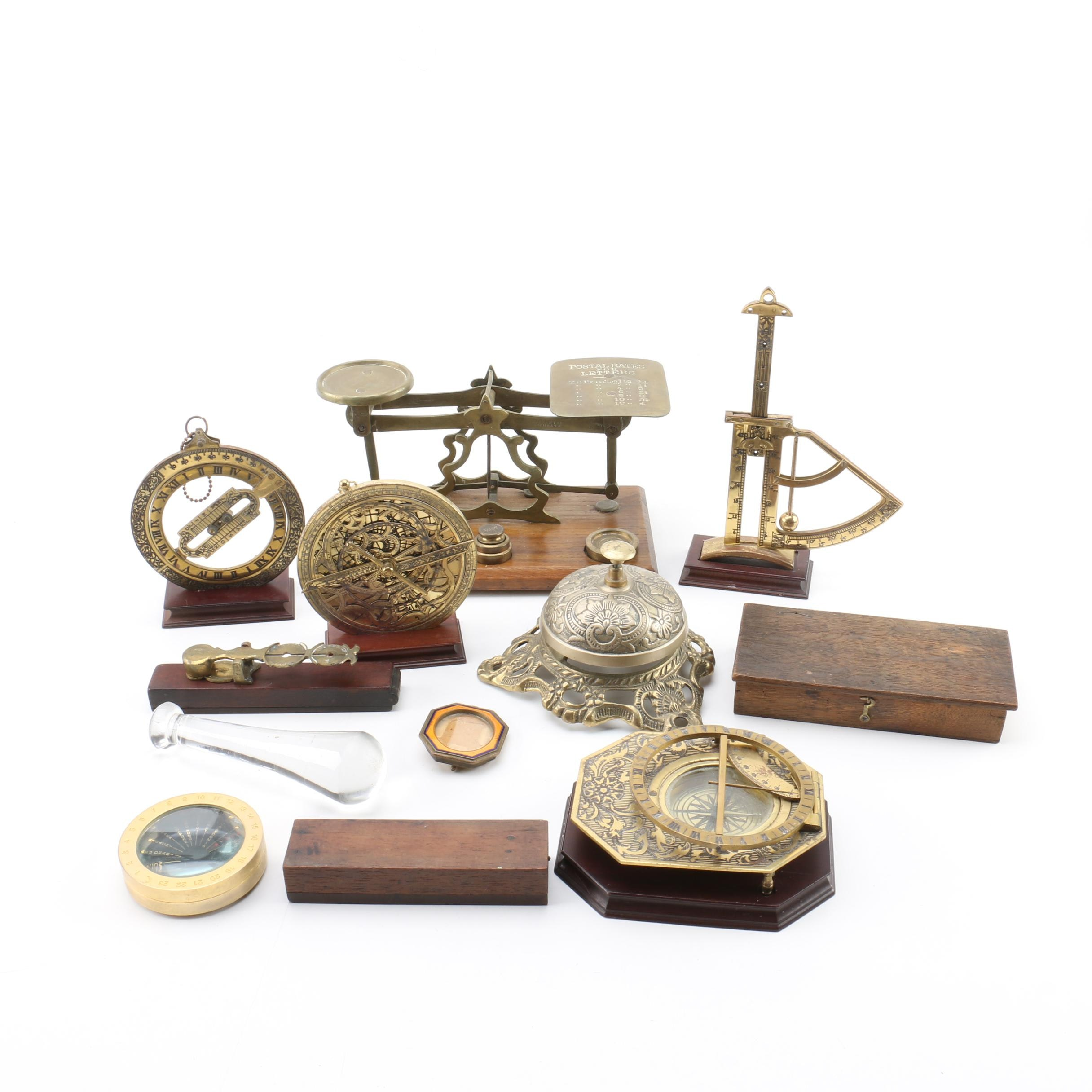 Antique Balances, Cast Call Bell, Franklin Mint Reproductions and More