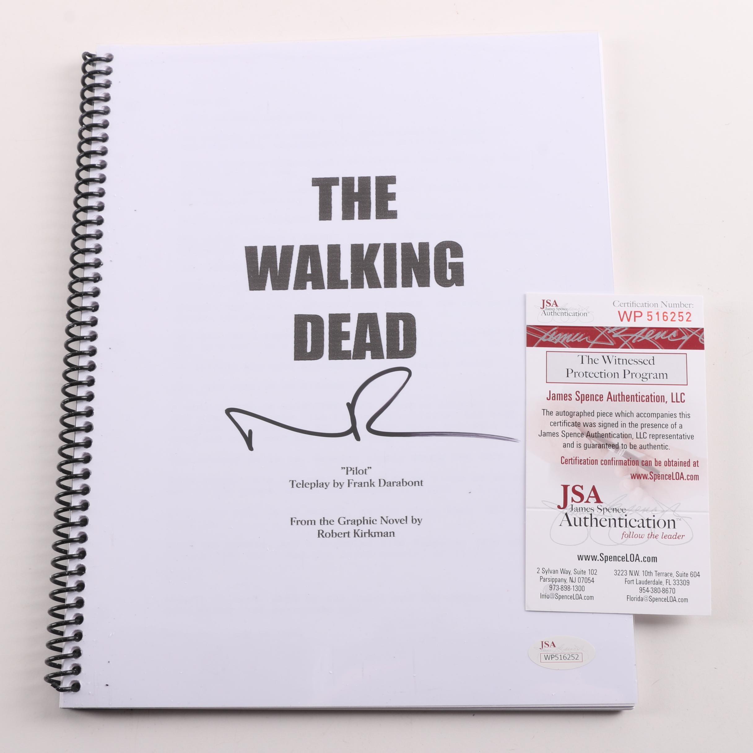 "Norman Reedus Autographed ""Walking Dead"" Script - JSA COA"