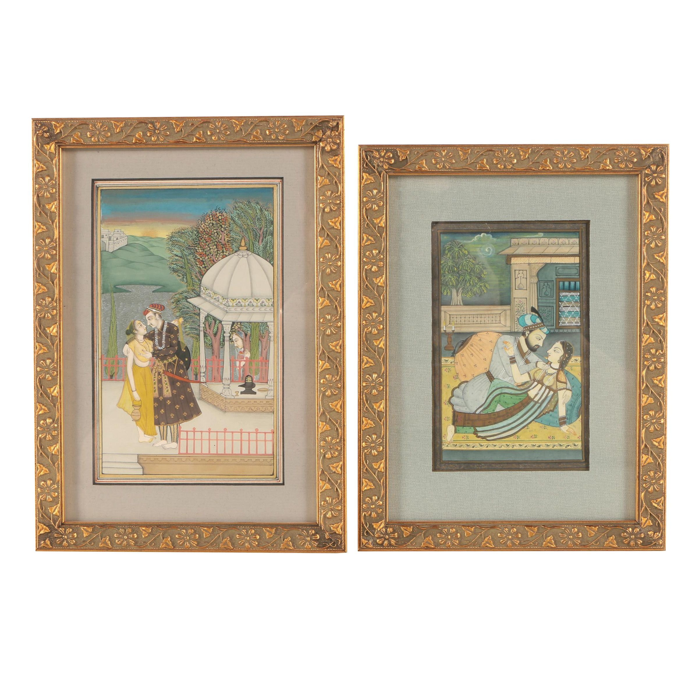 Indo-Persian Style Gouache Paintings