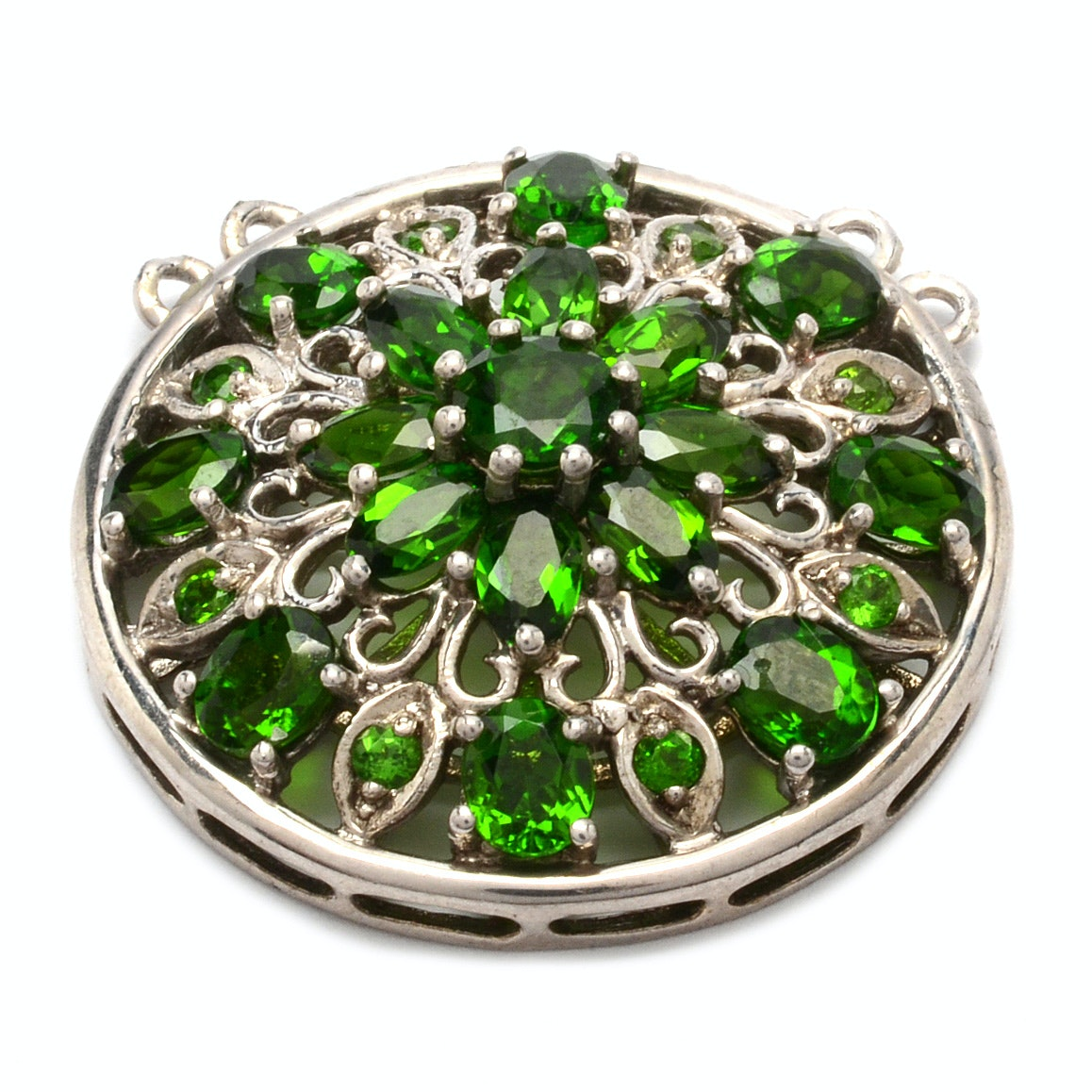 Sterling Silver Chrome Diopside Pendant