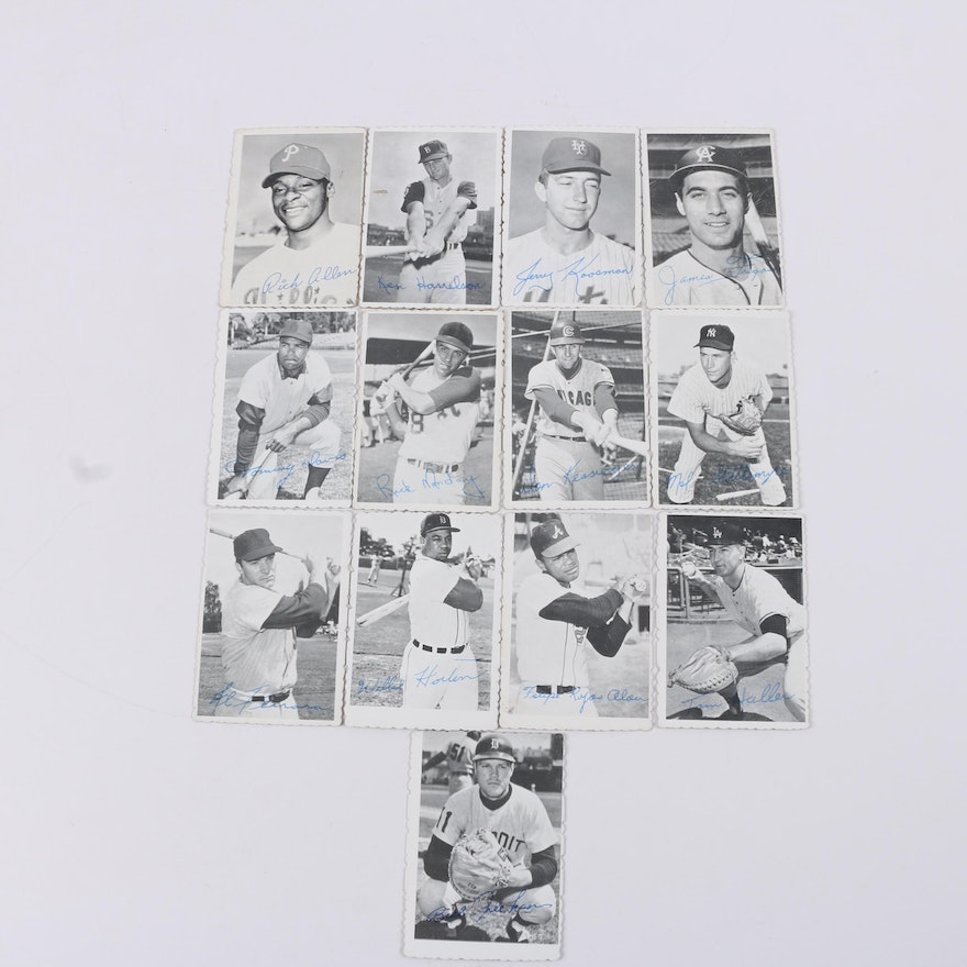 1969 Topps Deckle Edge Baseball Cards Including Rich Allen And Willie Horton
