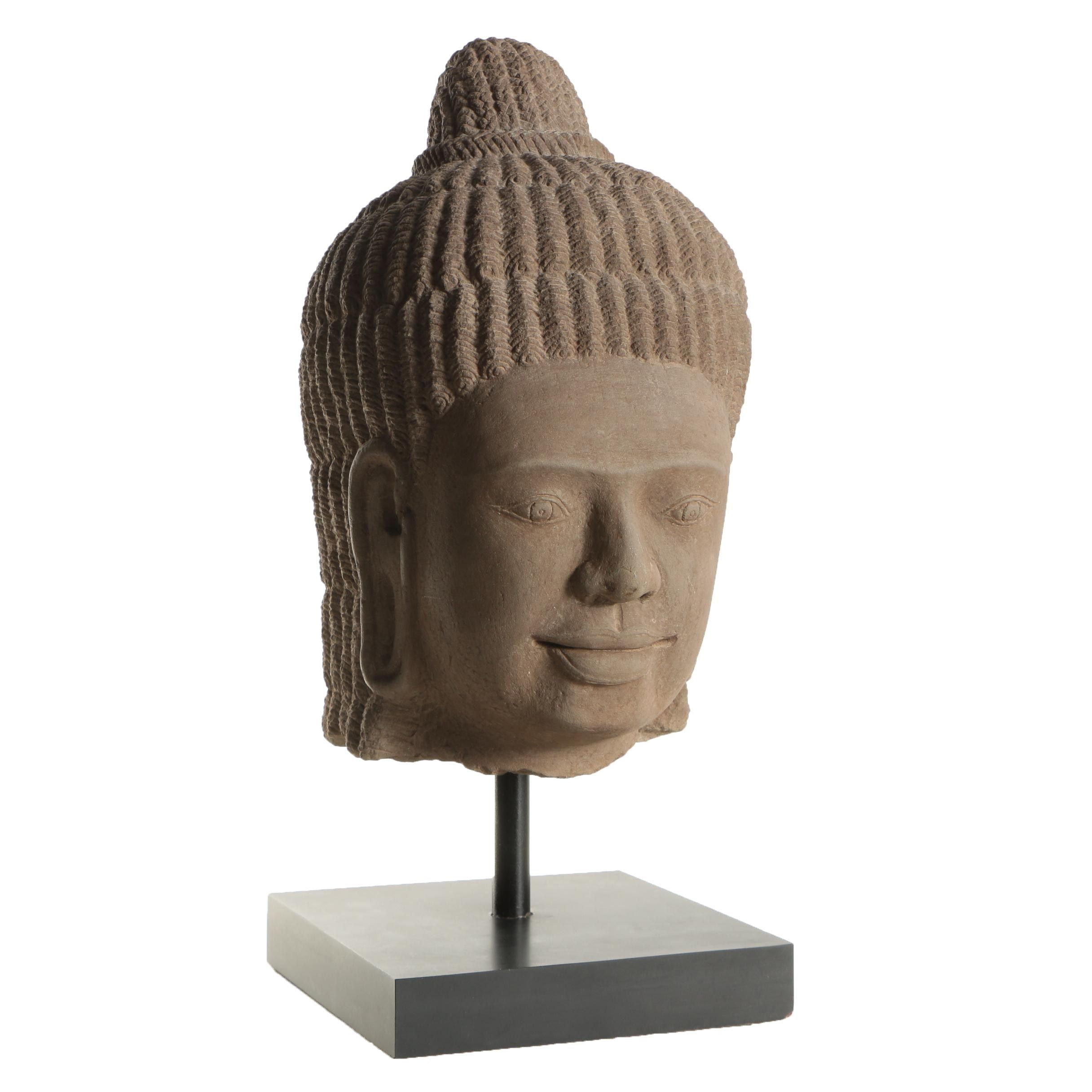 South Asian Style Carved Limestone Bust