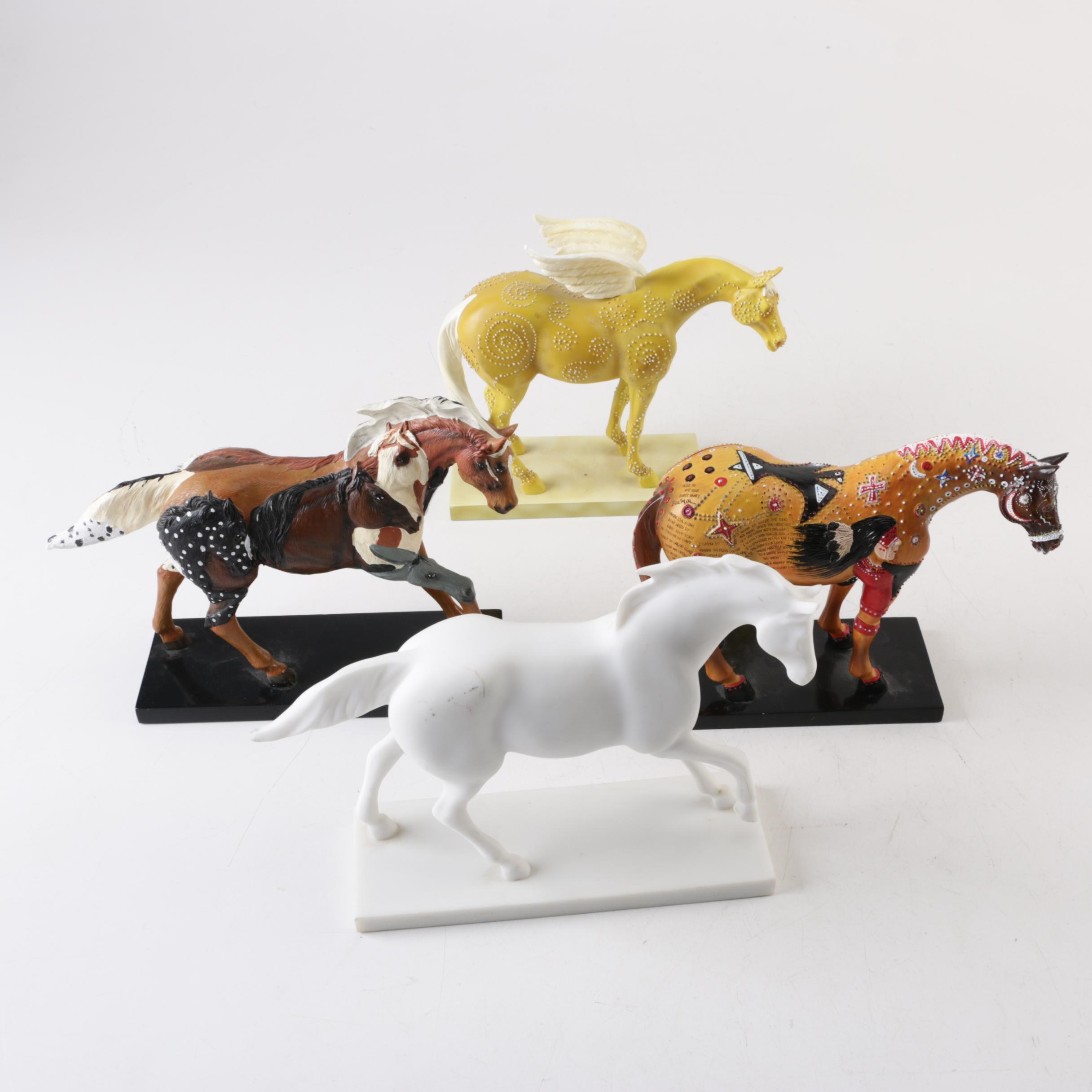 """""""The Trail of Painted Ponies"""" Cast Resin Horse Figurines"""