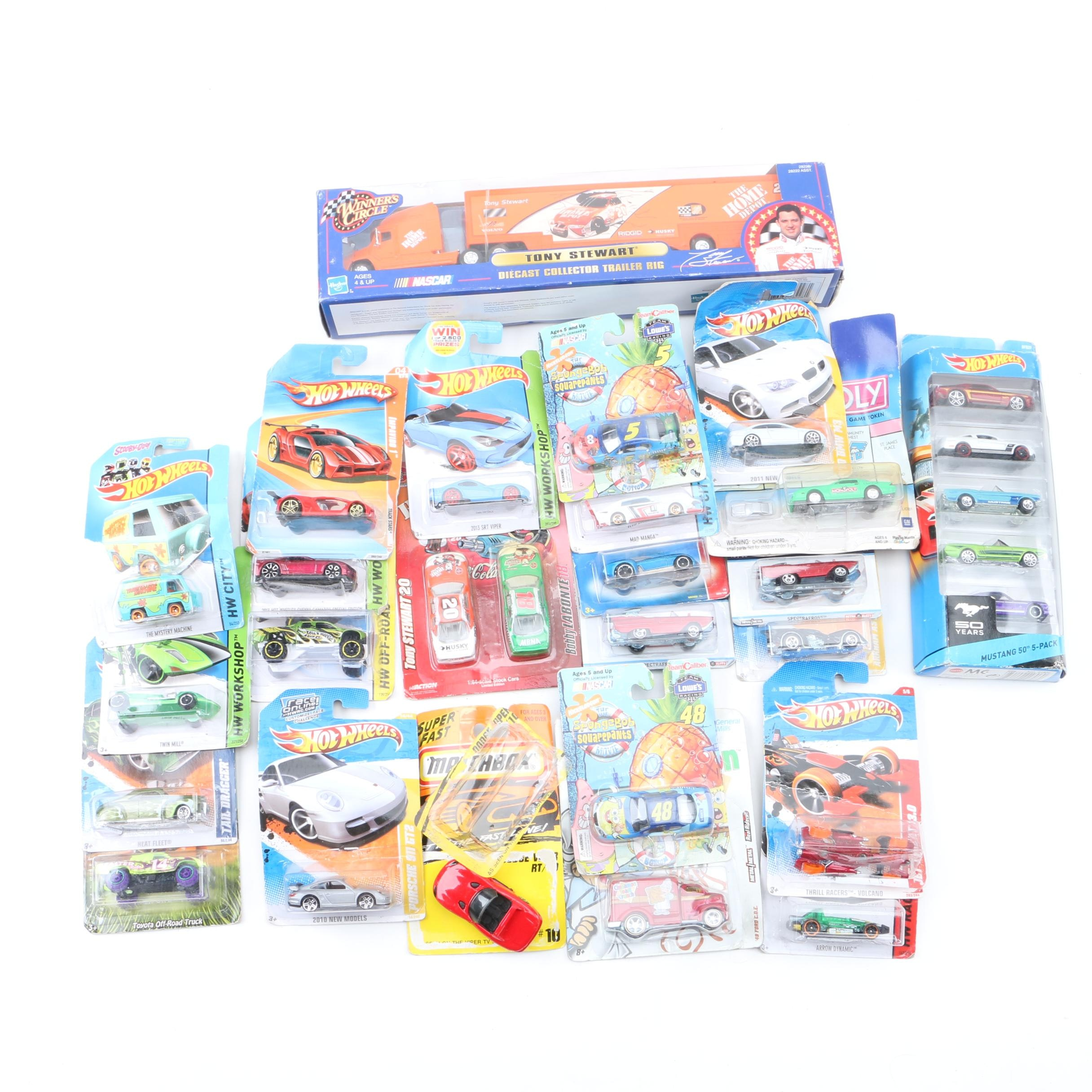 Miniature Scale Replica Die-Cast Cars Including Hot Wheels