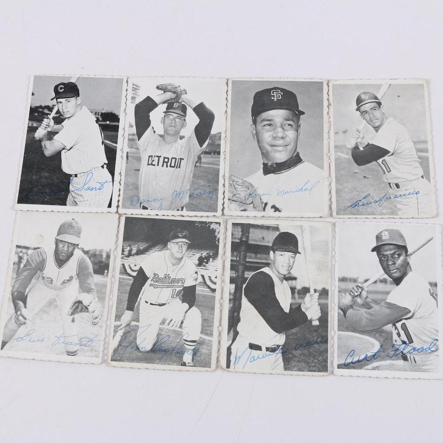 1969 Topps Deckle Edge Baseball Cards Including Denny Mclain And Curt Flood