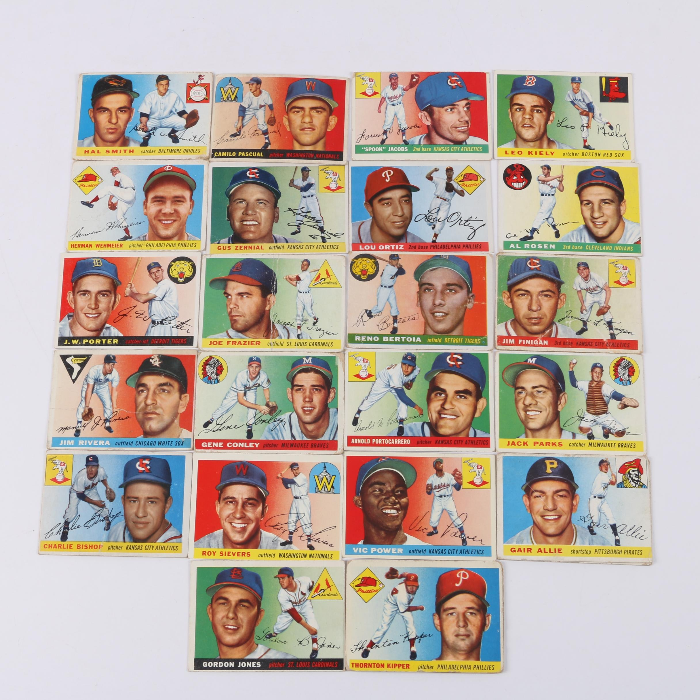 1950's Topps Baseball Cards Including Joe Frazier and Vic Power
