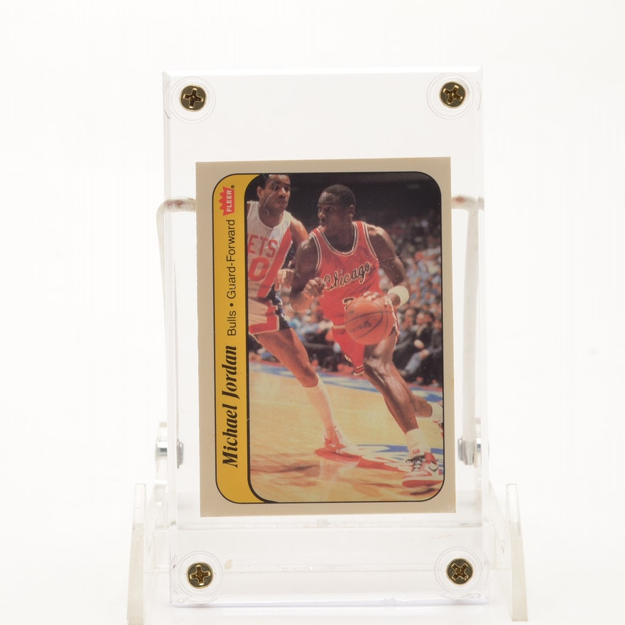 1986 Micheal Jordan Rookie Fleer Sticker