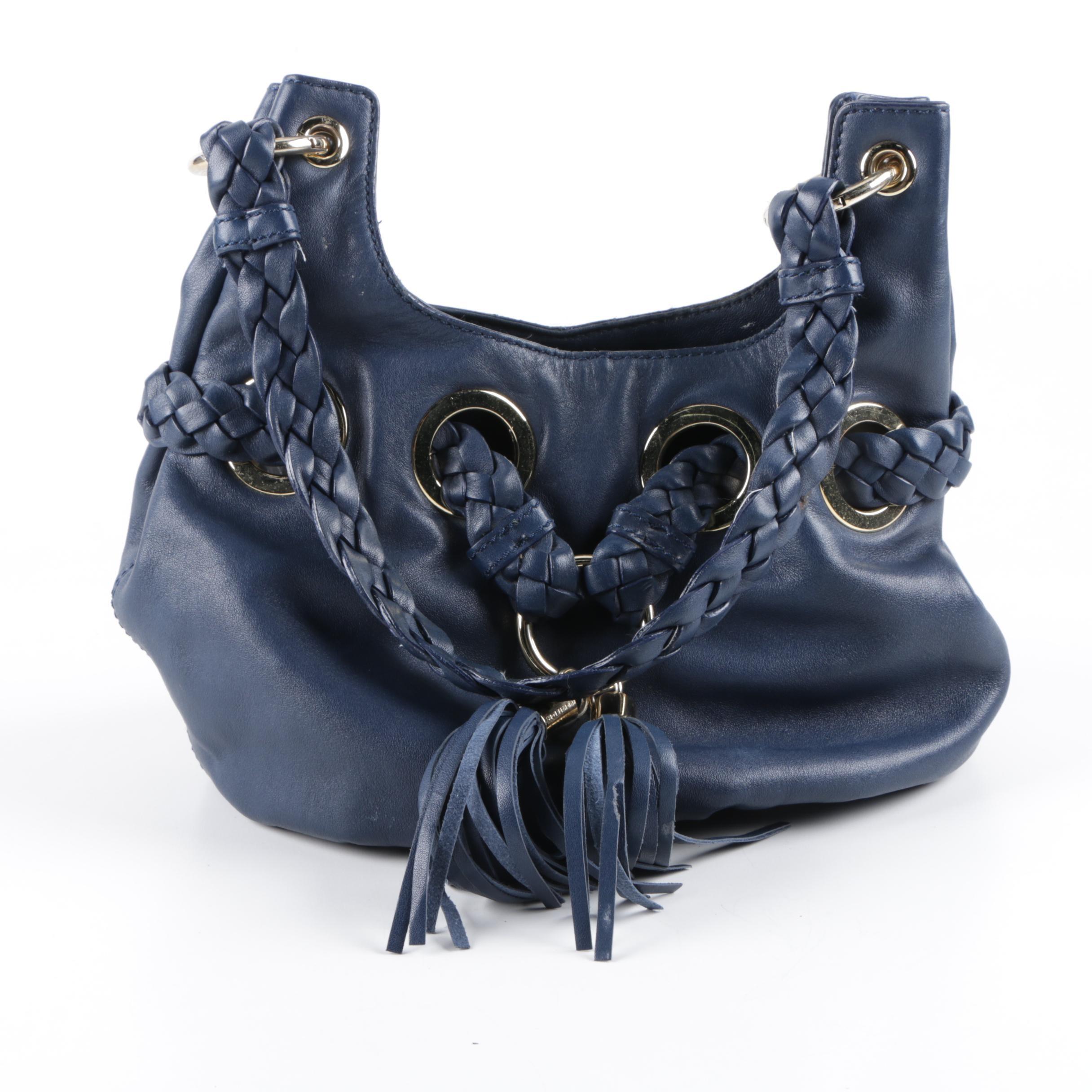 Michael Michael Kors Blue Leather Hobo Handbag
