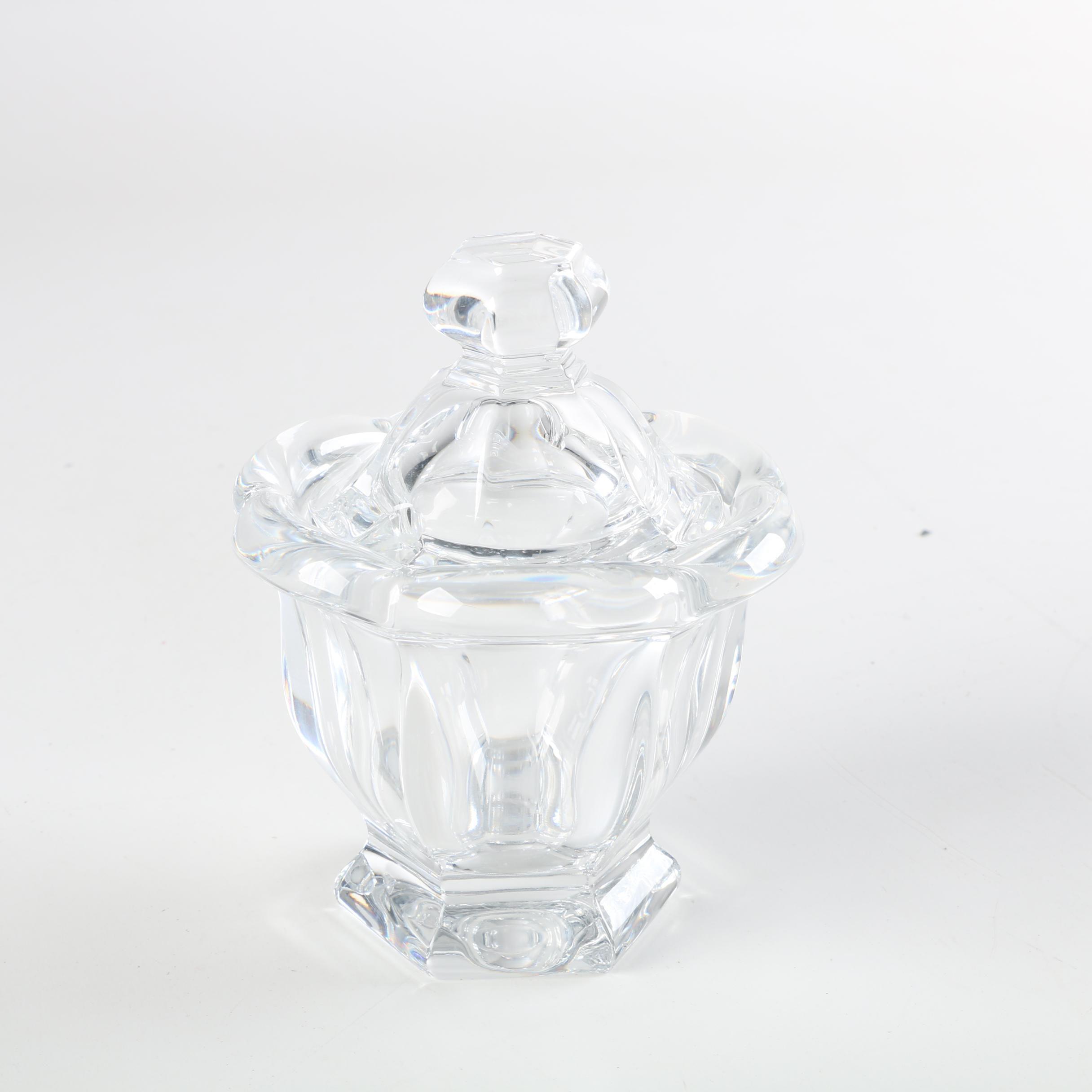 "Baccarat Crystal ""Bretagne"" Jam Jar"