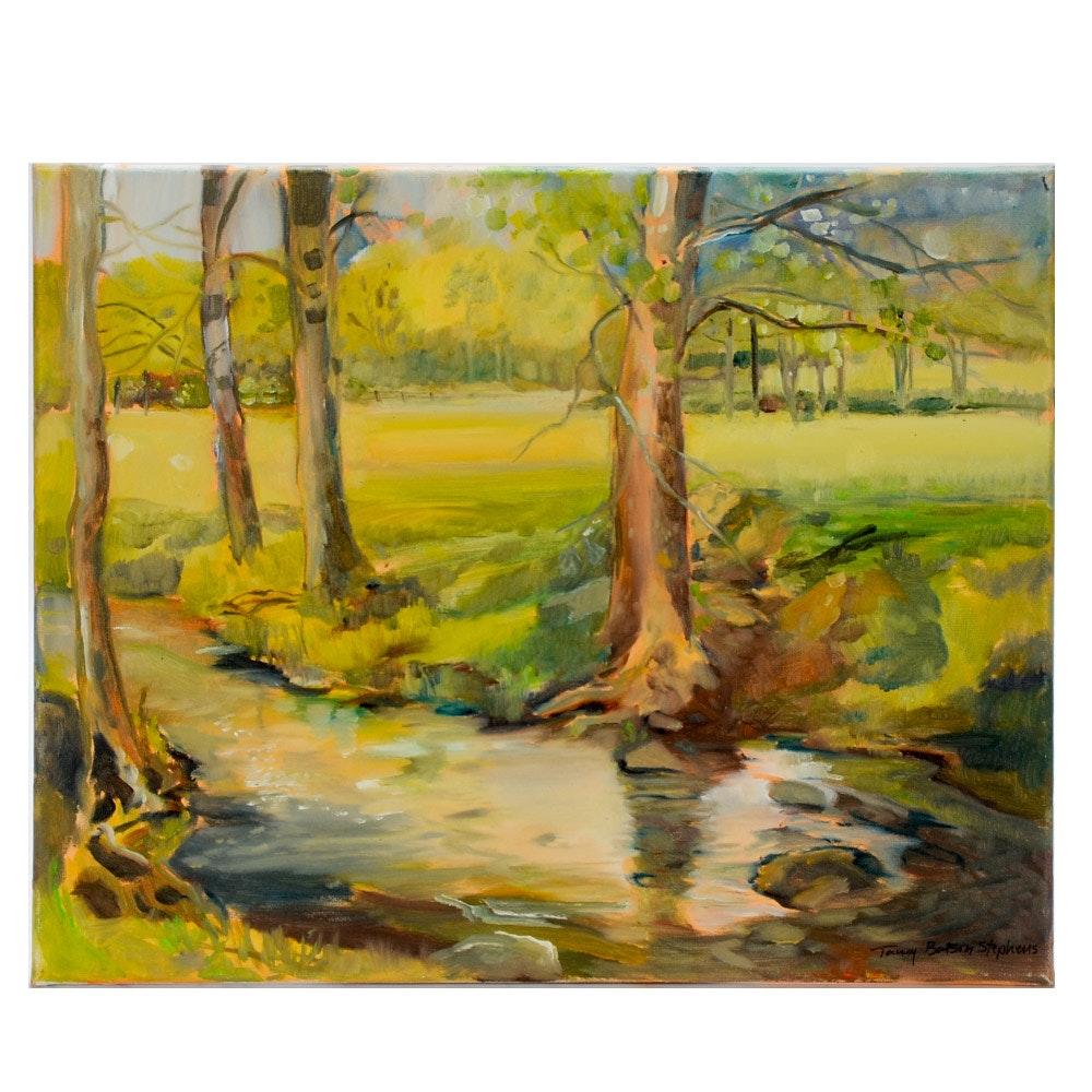 Tammy Batson Stephens Oil on Canvas Plein Air Landscape Painting