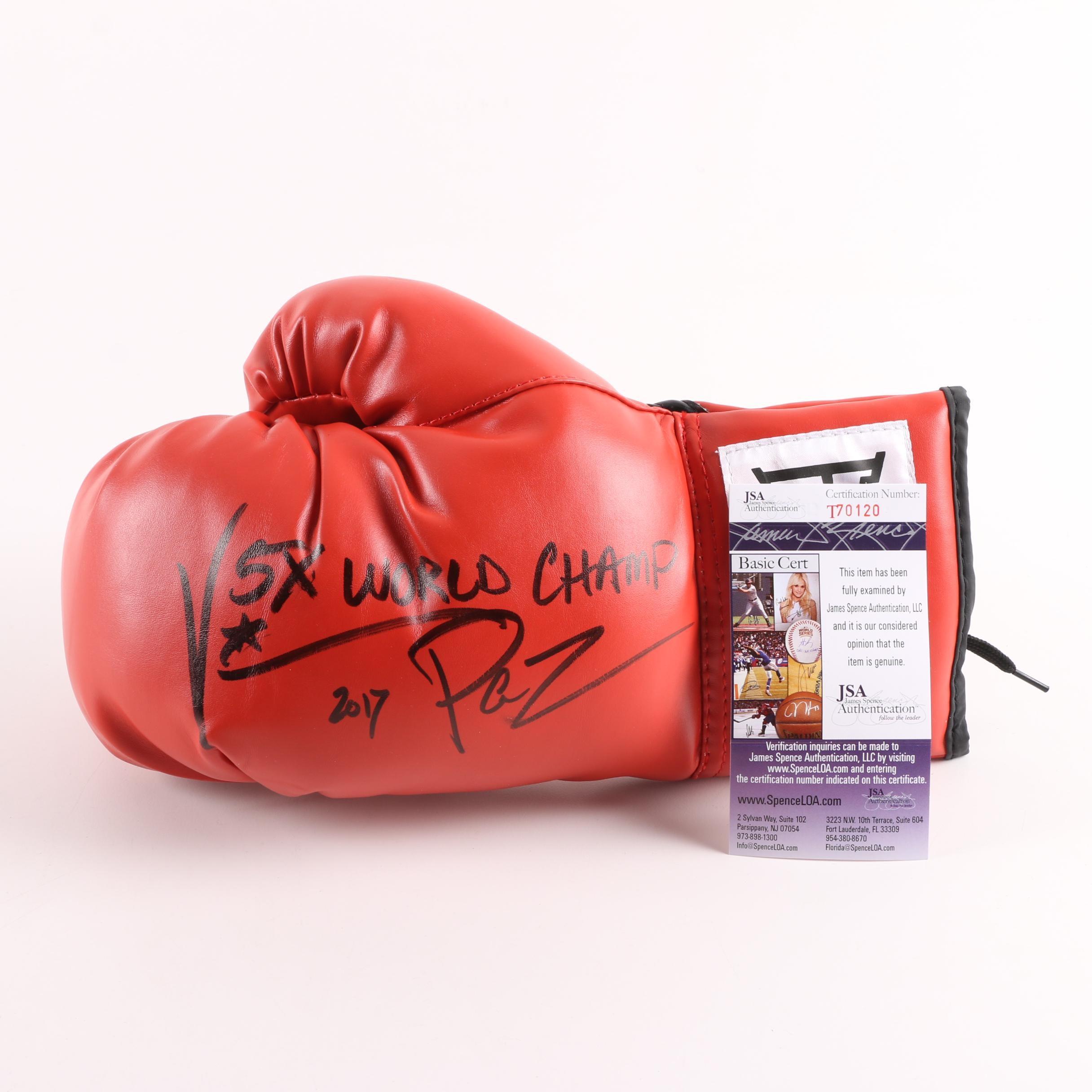 Vinny Paz Autographed Boxing Glove - JSA COA