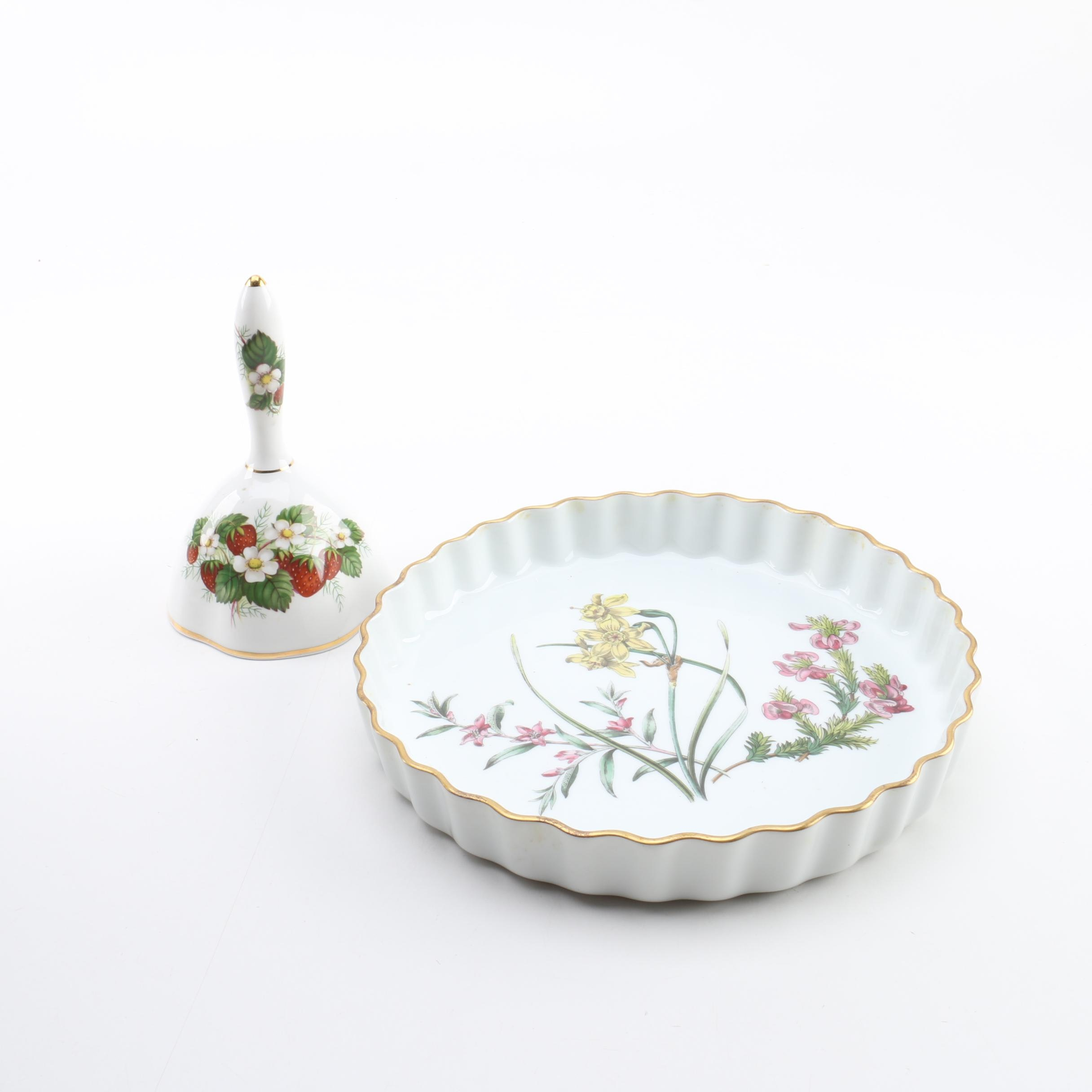 Spode \ Stafford Flowers\  Tart Pan and Hammersley \ Strawberry ...  sc 1 st  EBTH.com & Spode \