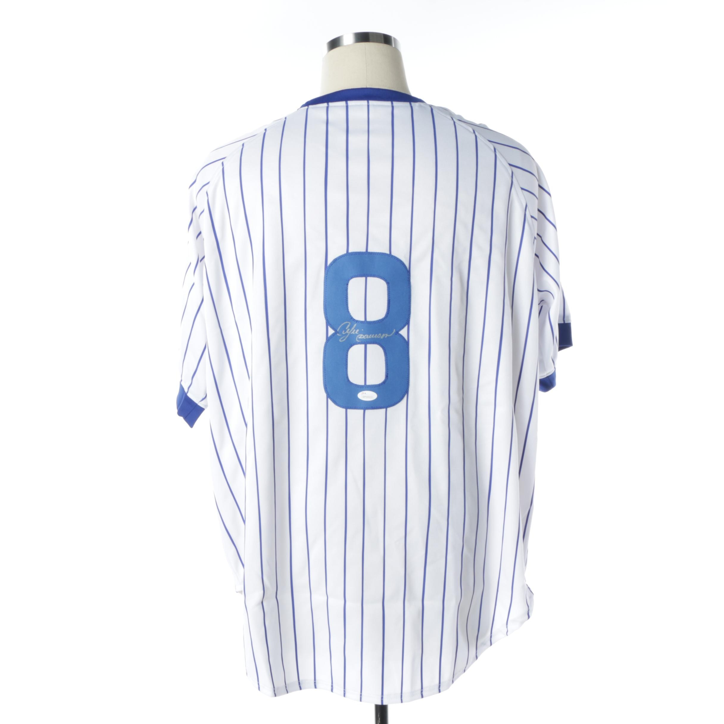 Andre Dawson Autographed Chicago Cubs Jersey - JSA COA