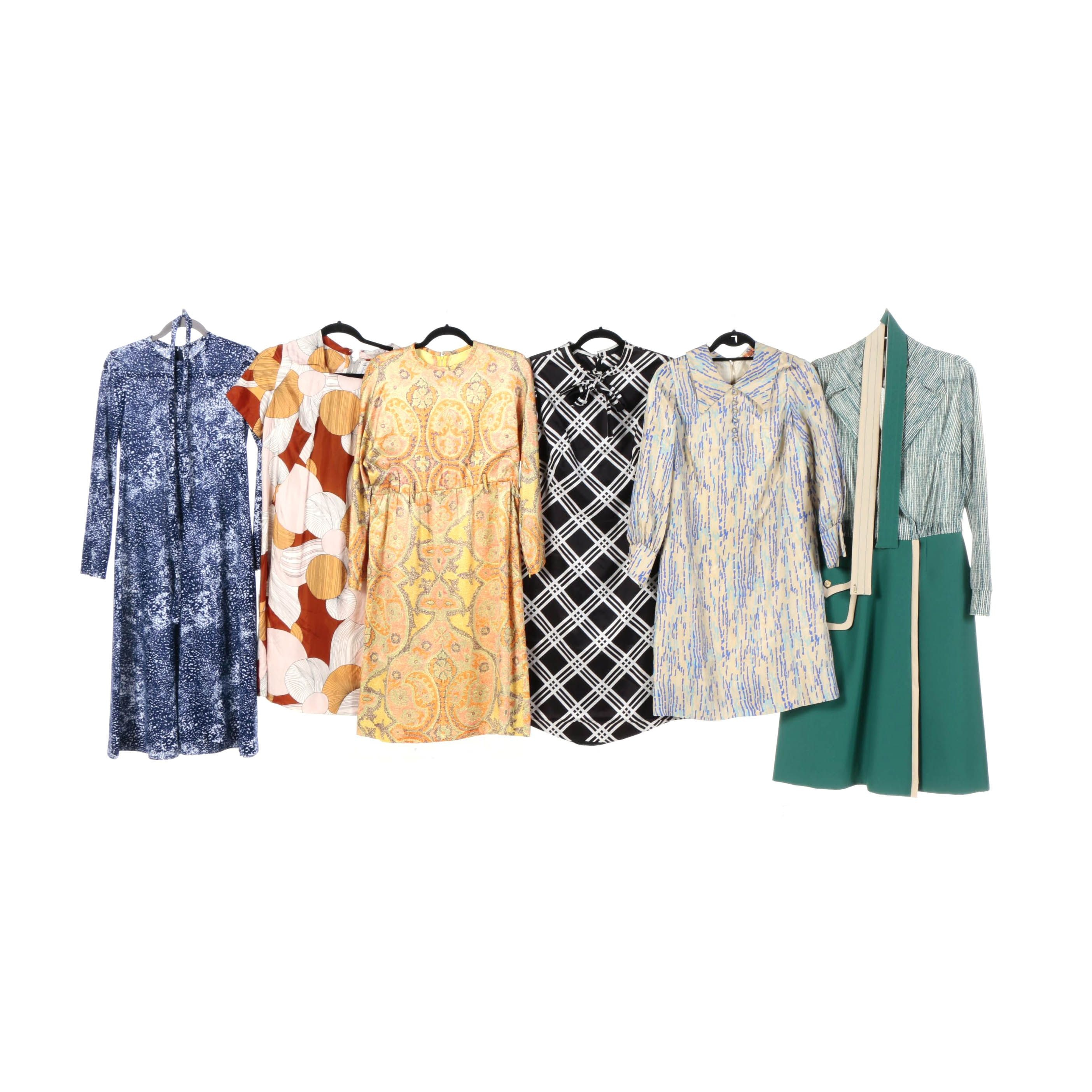 Circa 1970s Vintage Dresses Including Herman Marcus and Harold Levine