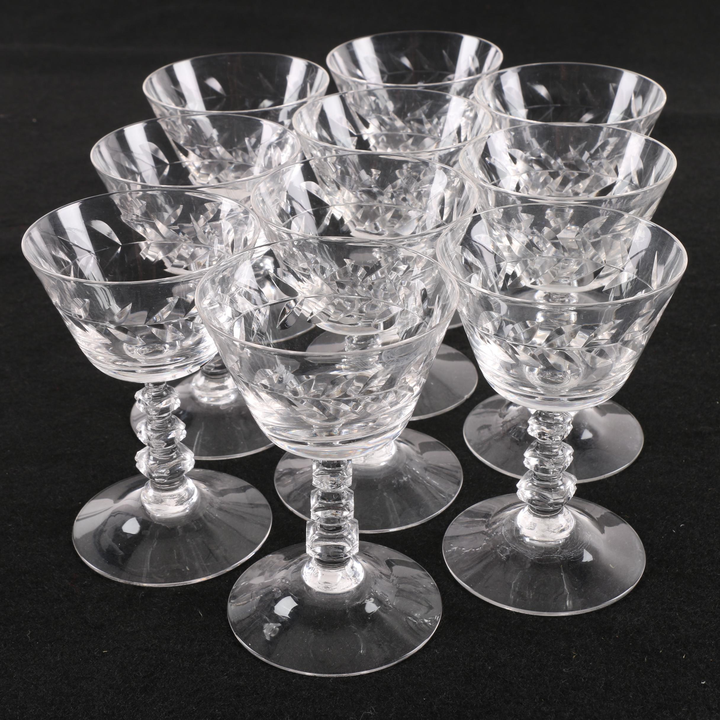 Vintage Crystal Cocktail Glasses