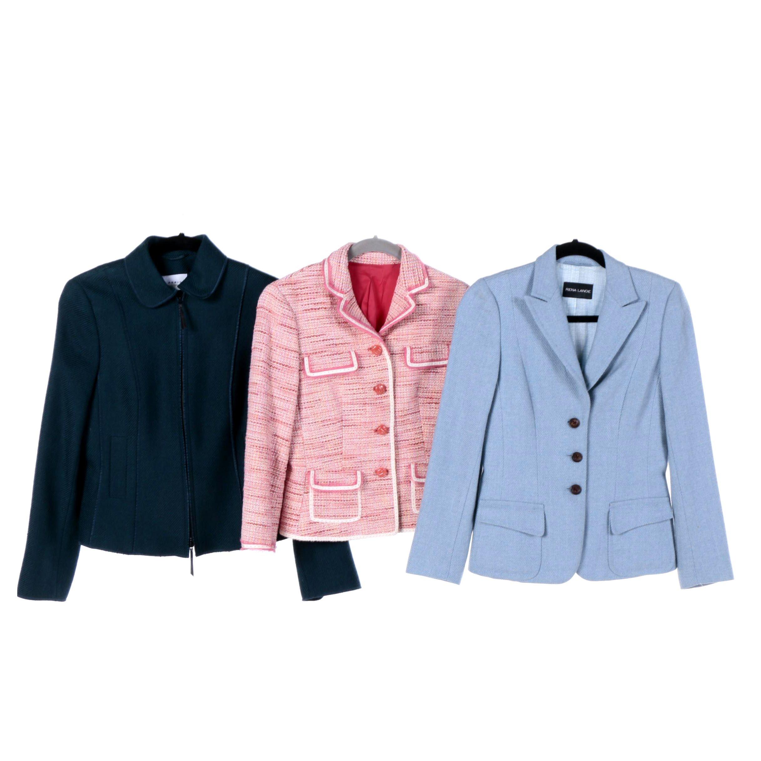 Rena Lang, Elie Tahari, and Akris Punto Blazer Jackets