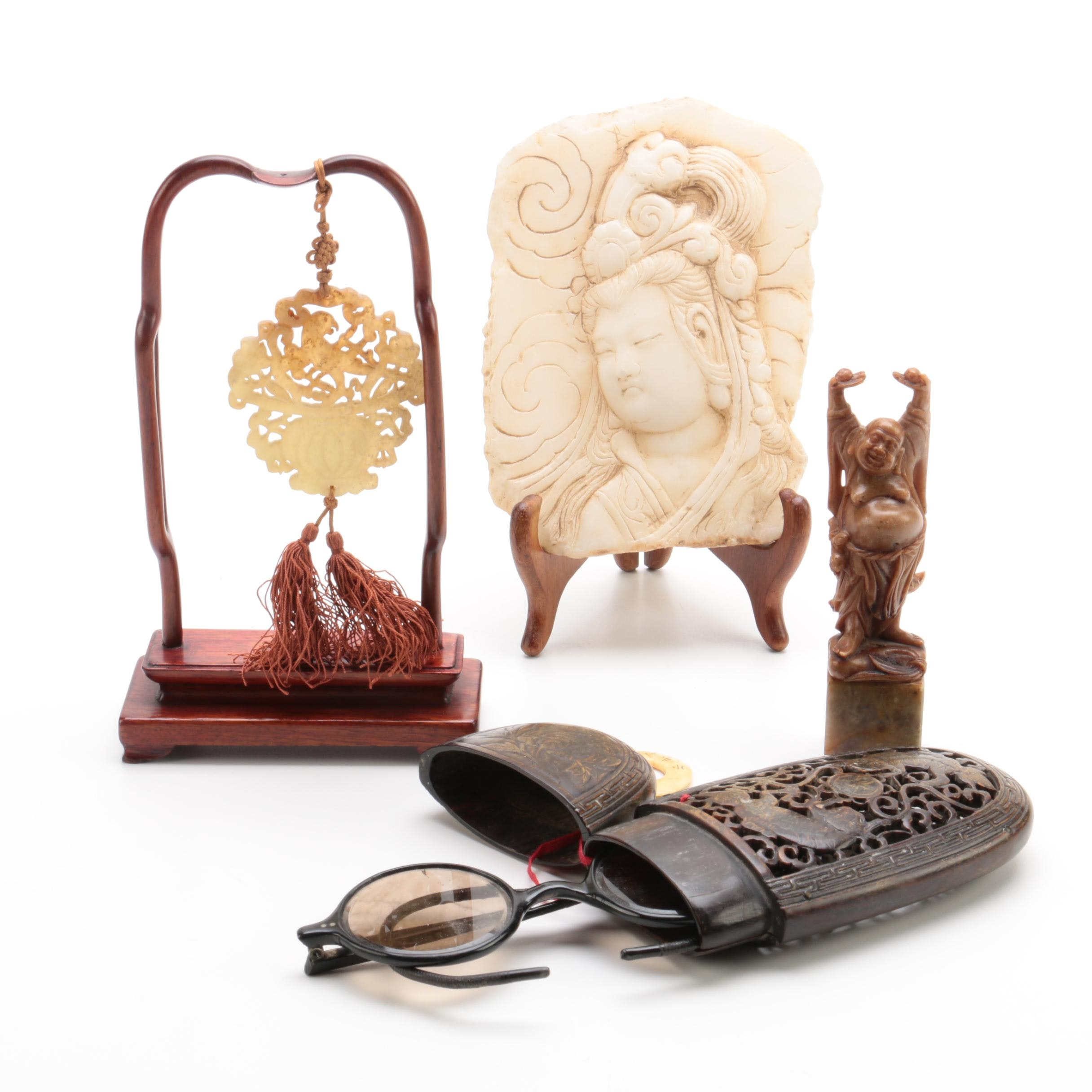 Chinese Bone, Soapstone and Marble Collectibles