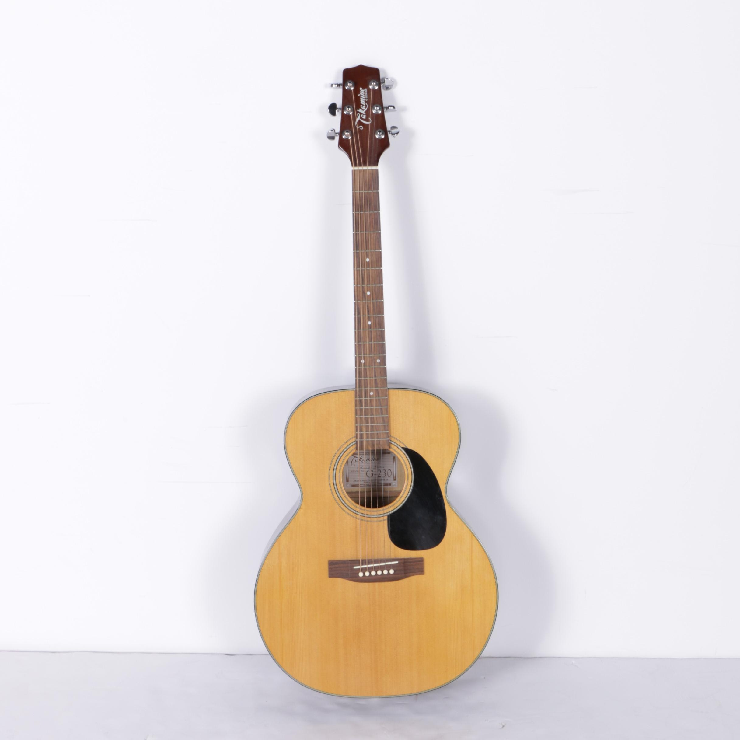 Takamine G230 Acoustic Classical Guitar with Stand