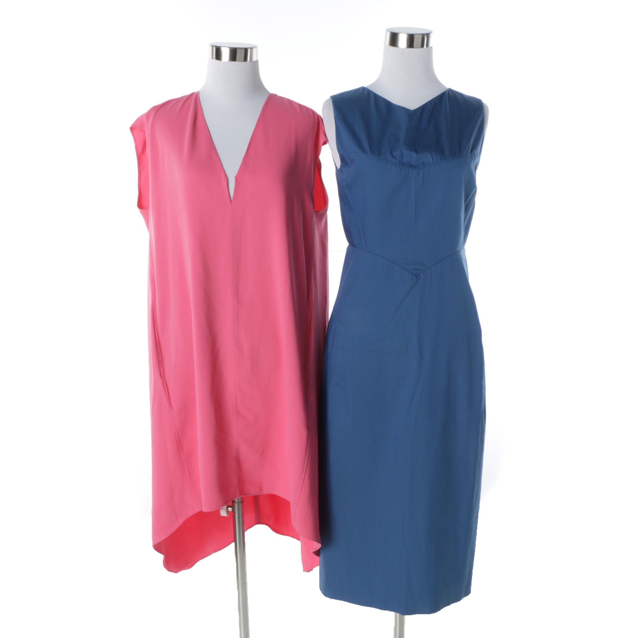 Jil Sander Sleeveless Sheath Dress and Rachael by Rachel Roy Pink Tunic Dress