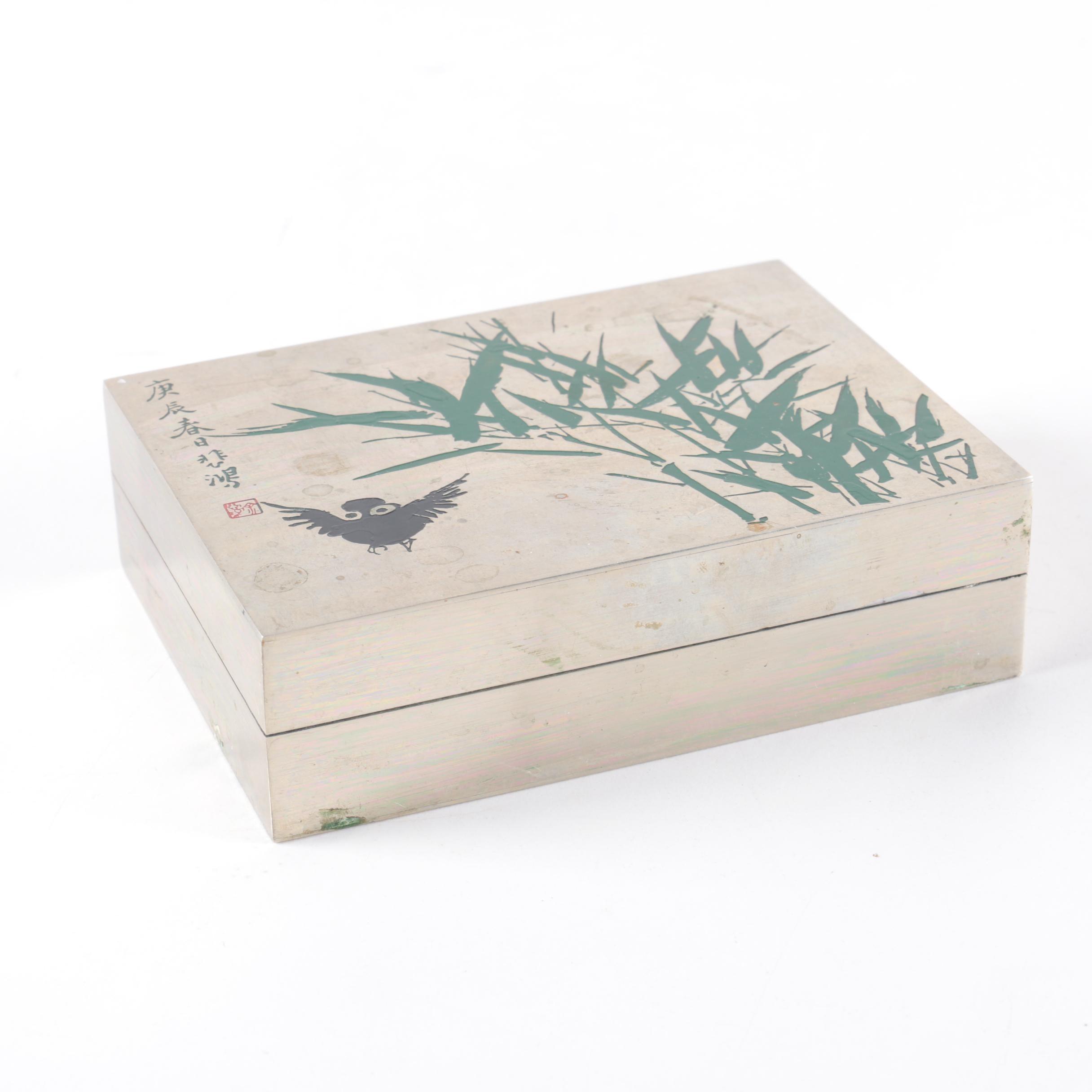 Vintage Chinese Metal Trinket Box