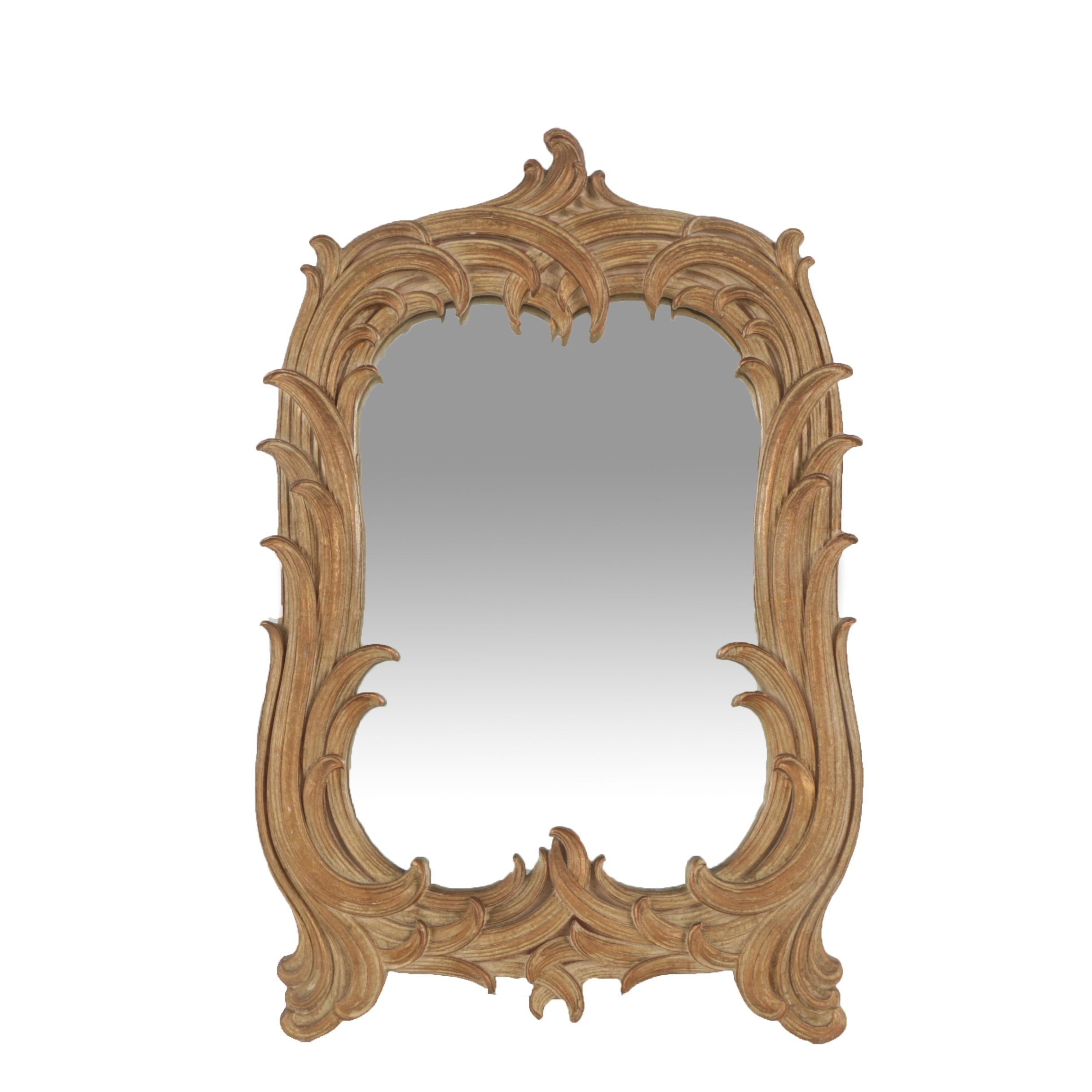 Baroque Style Wooden Framed Wall Mirror