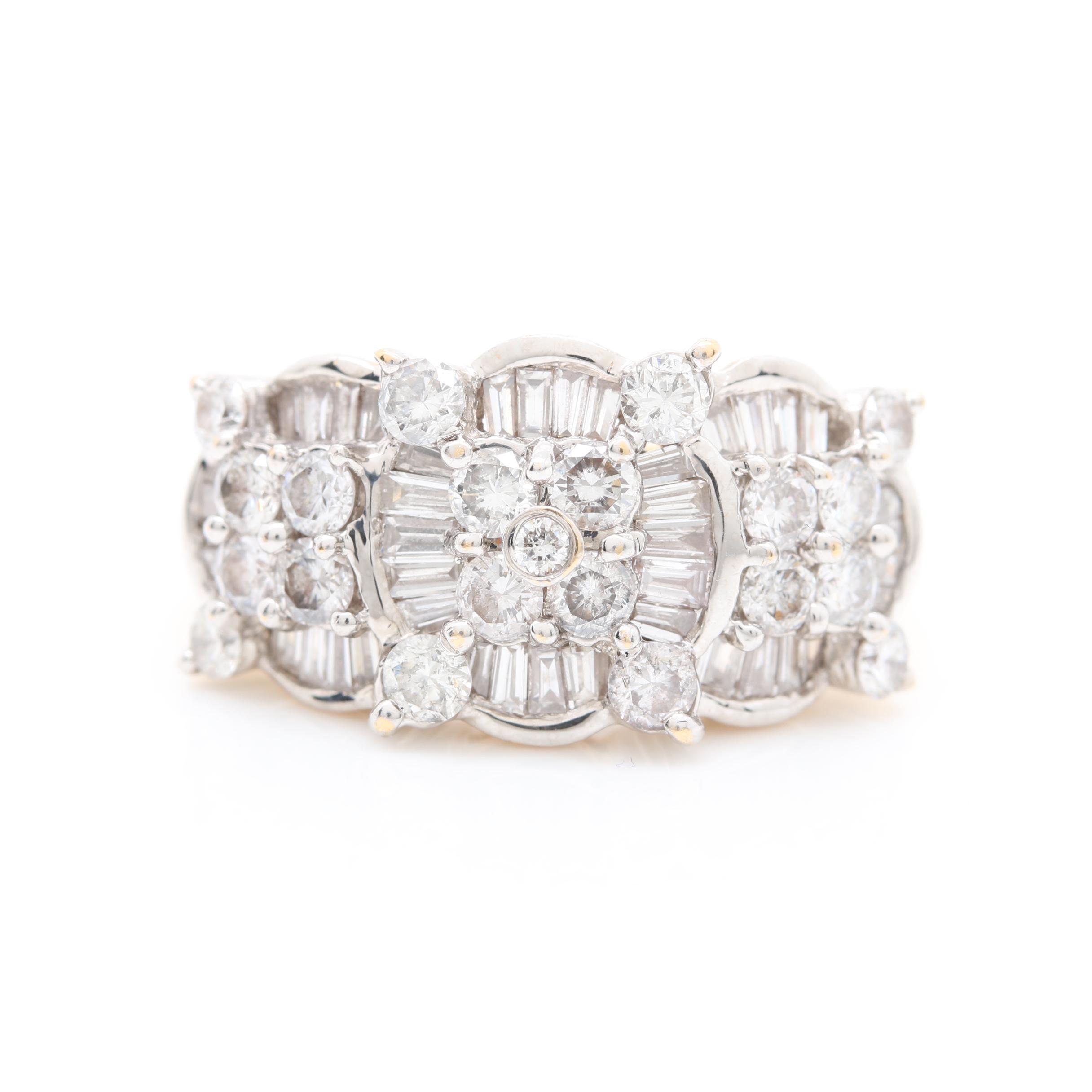 18K Yellow Gold 1.75 CTW Diamond Ring