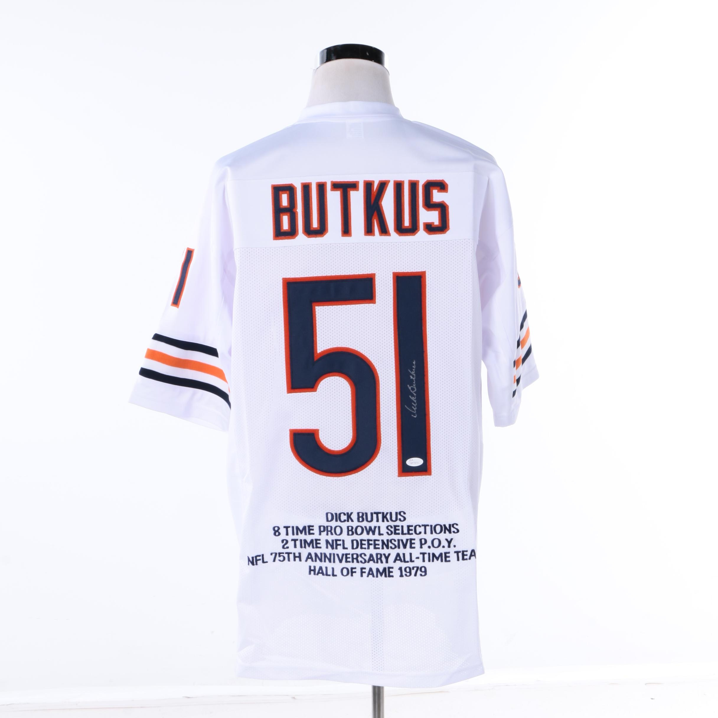 Dick Butkus Autographed Chicago Bears Jersey - JSA COA
