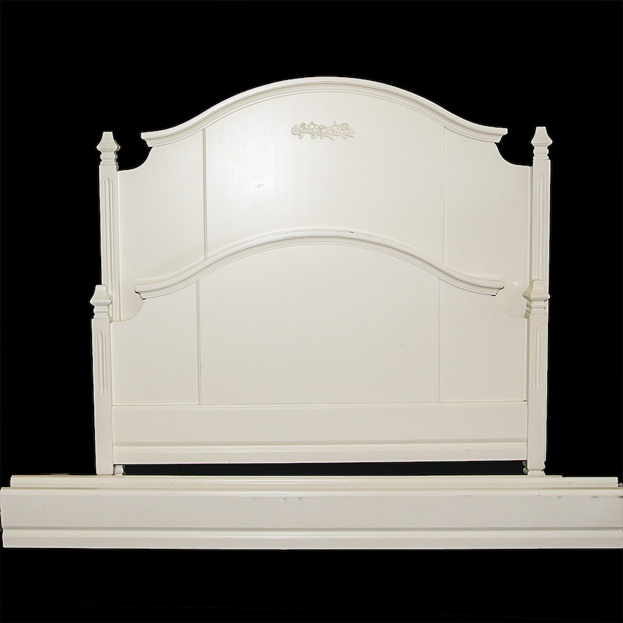 Full Size Bed Frame By Pottery Barn Kids: Vintage Pottery Barn Kids Full Size Painted Bed Frame