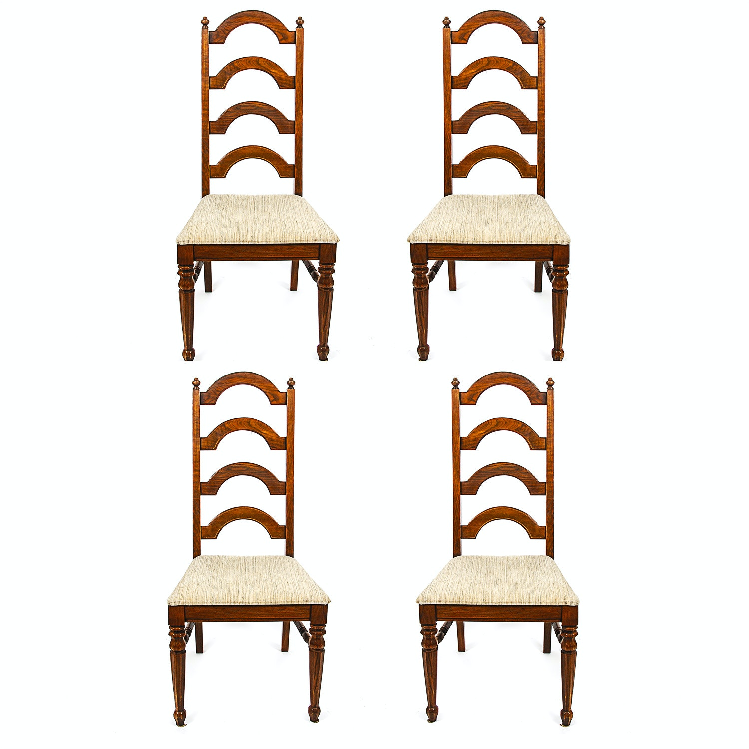 Set of Ladderback Dining Chairs