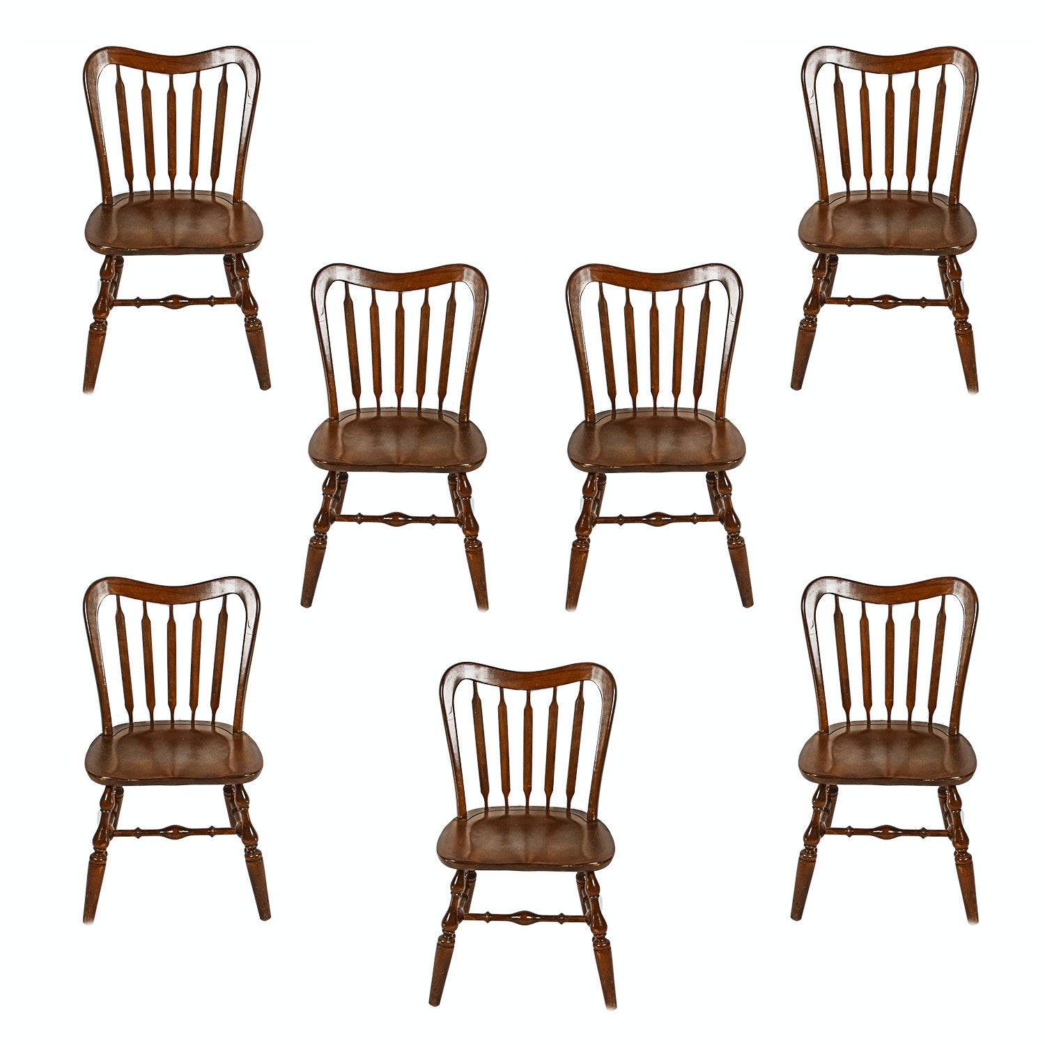 Temple Stuart Furniture Early American Walnut Side Chairs ...