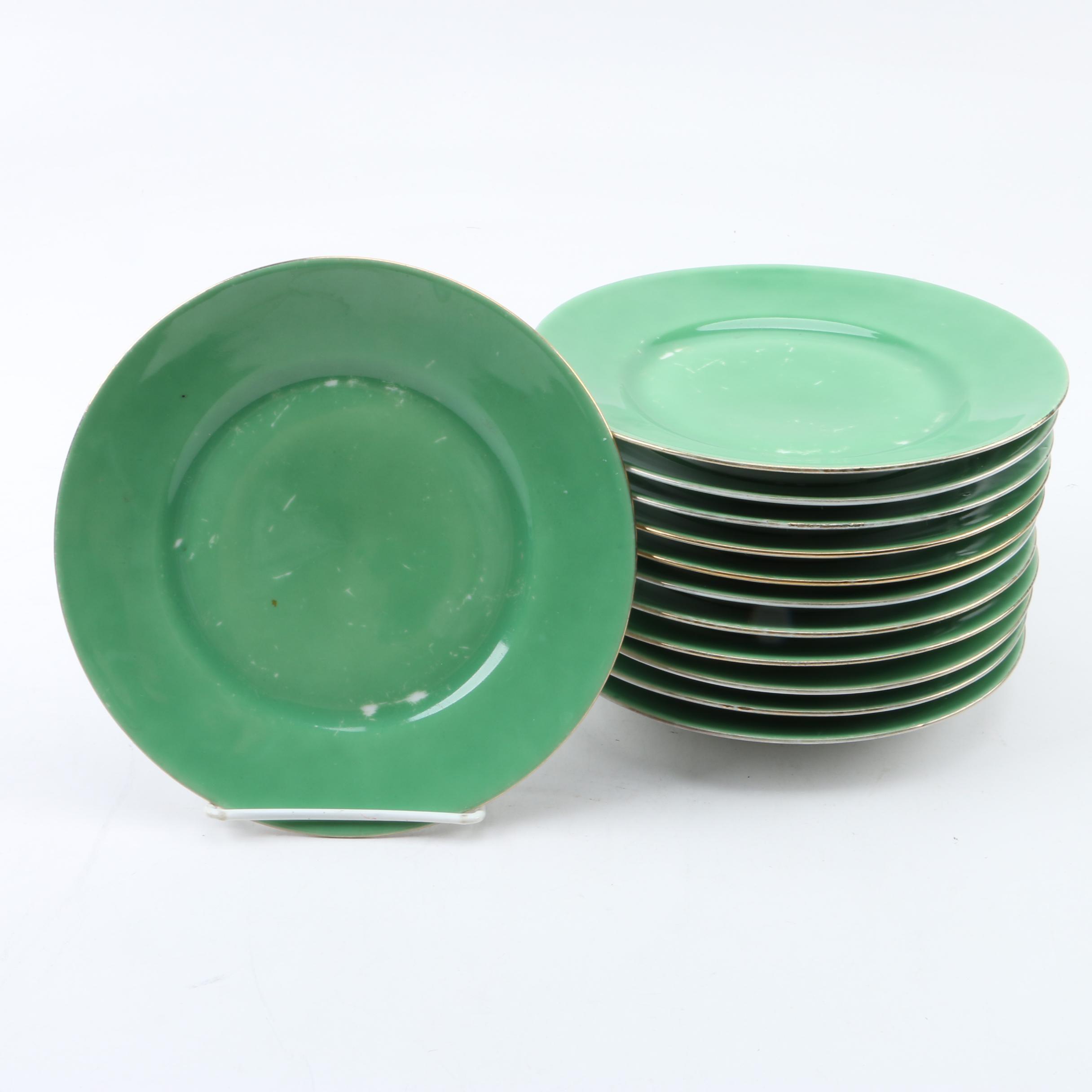 Vintage German Porcelain Dessert Plates