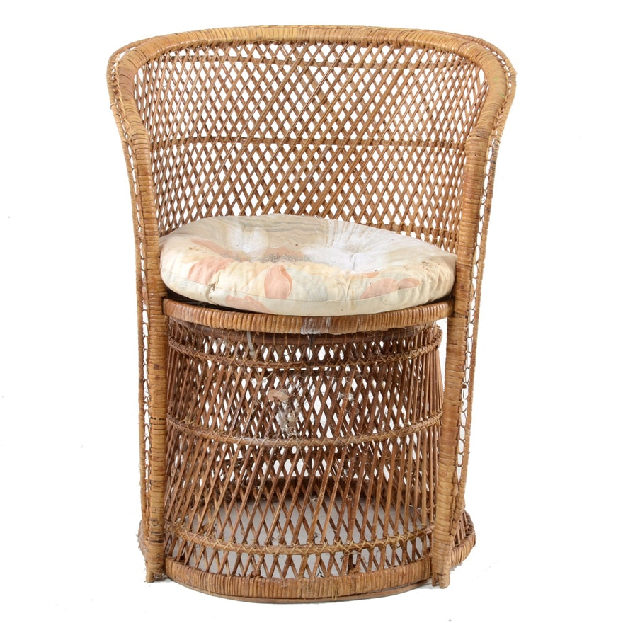 Wicker Accent Chairs.Wicker Accent Chair