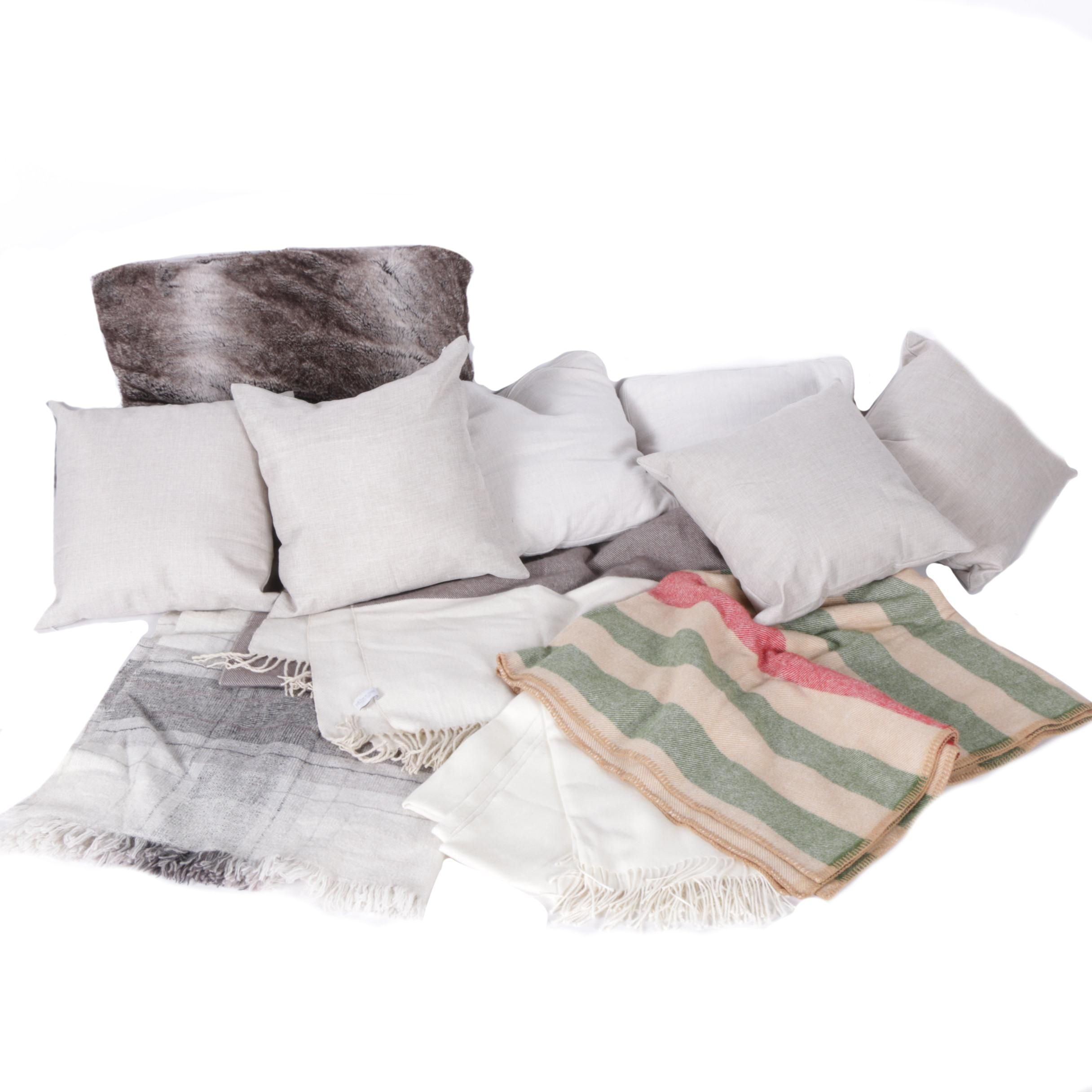 Accent Pillows, Wool Blanket, and Items by Pom Pom at Home