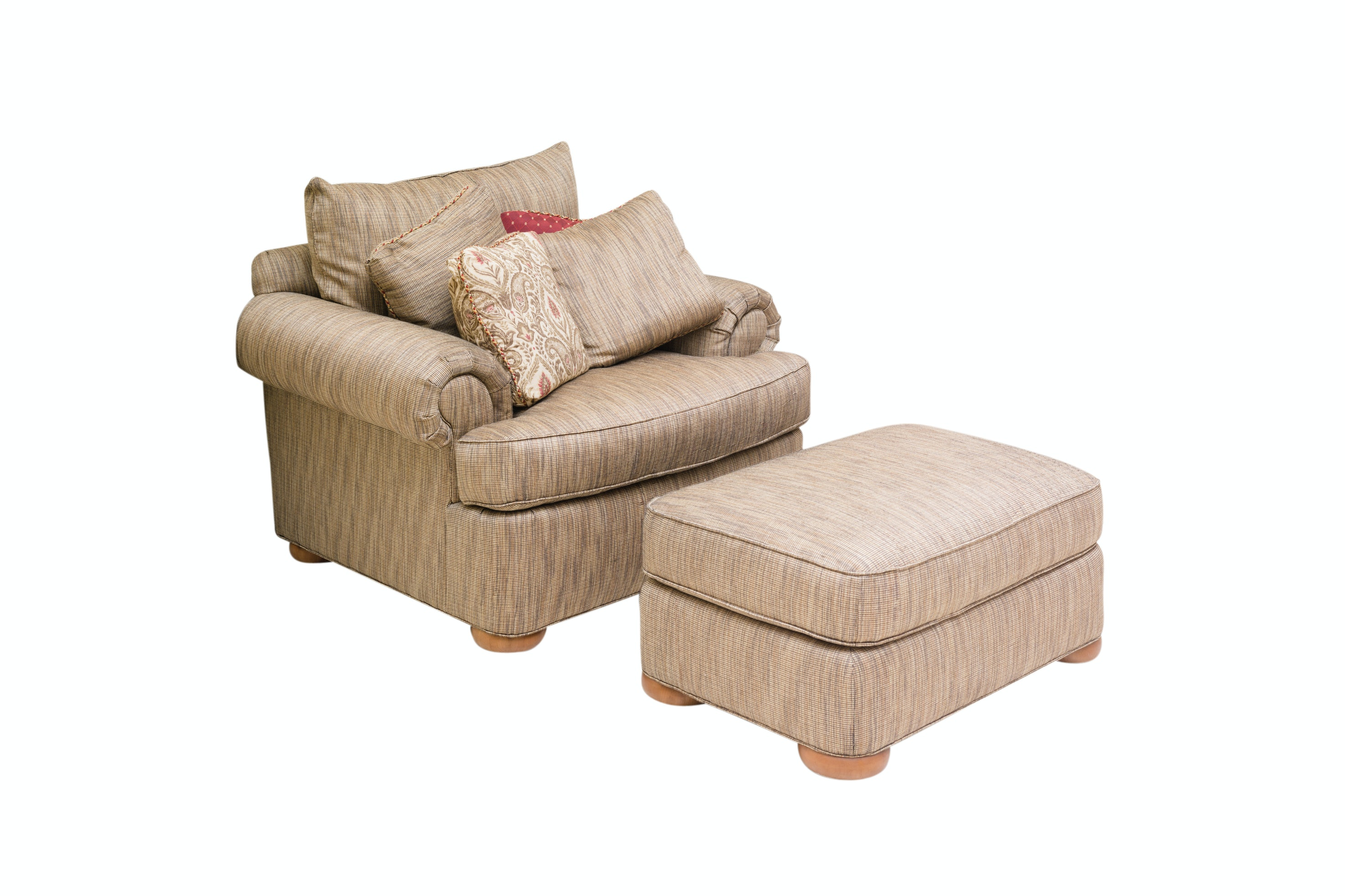 Upholstered Lounge Chair and Ottoman by Thomasville