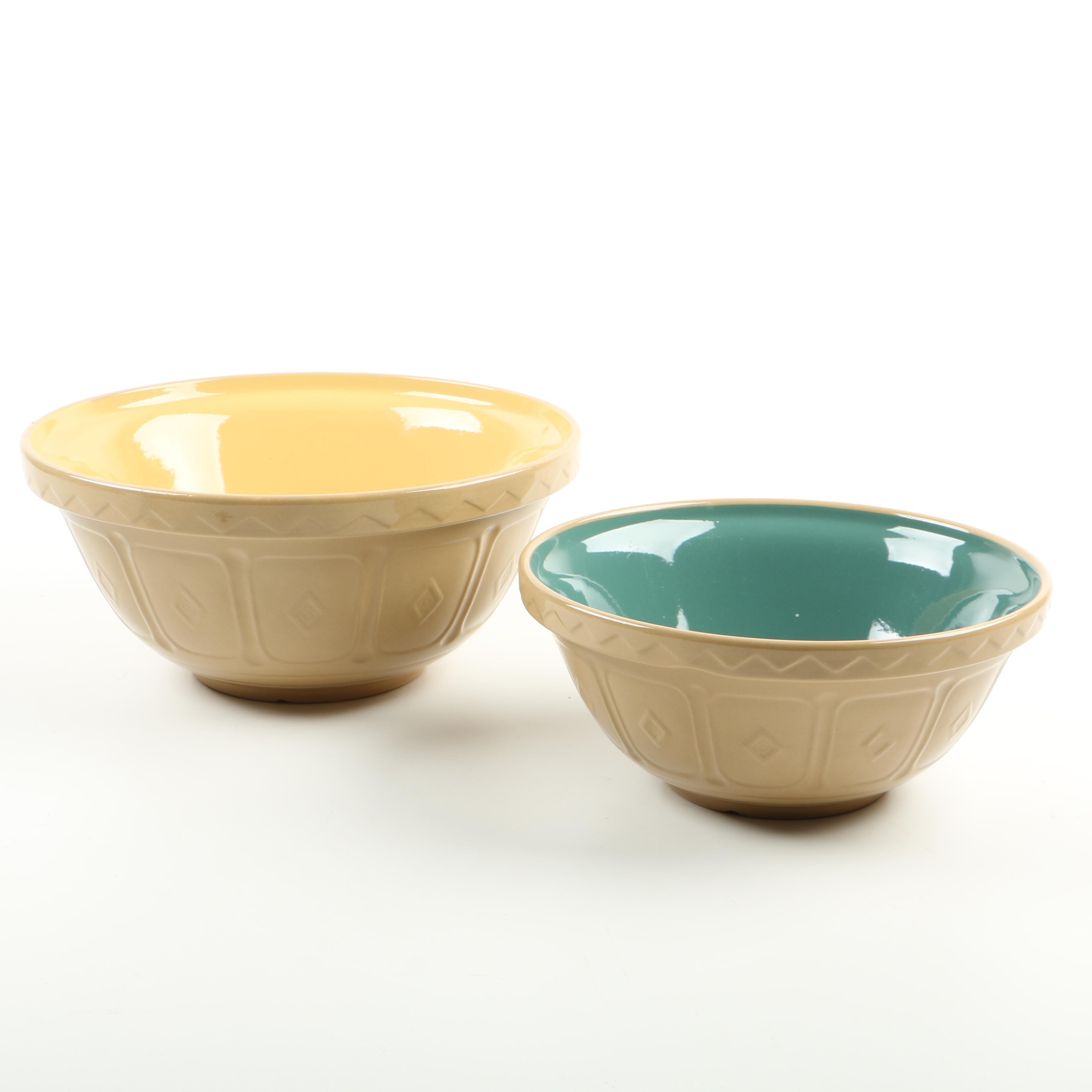 Mason & Cash Co Mixing Stoneware Bowls, Made in England