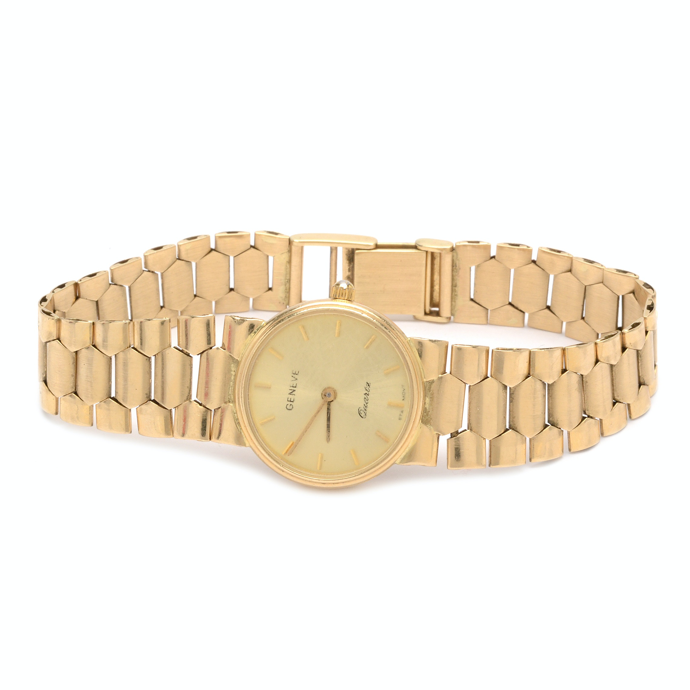 14K Yellow Gold Geneve Quartz Wristwatch