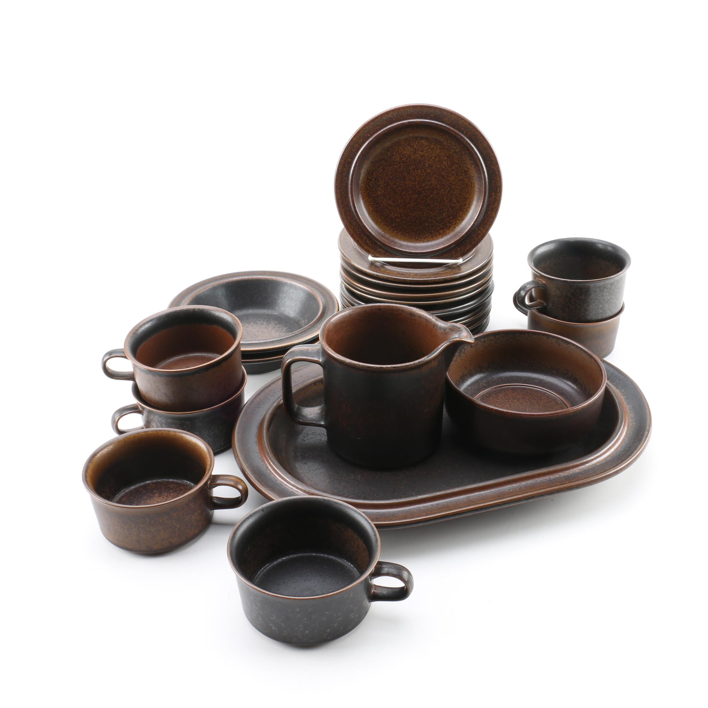 Arabia  Ruska  Variegated Brown Glazed Stoneware Serving Dishes and Tableware ...  sc 1 st  EBTH.com : ruska dinnerware - pezcame.com