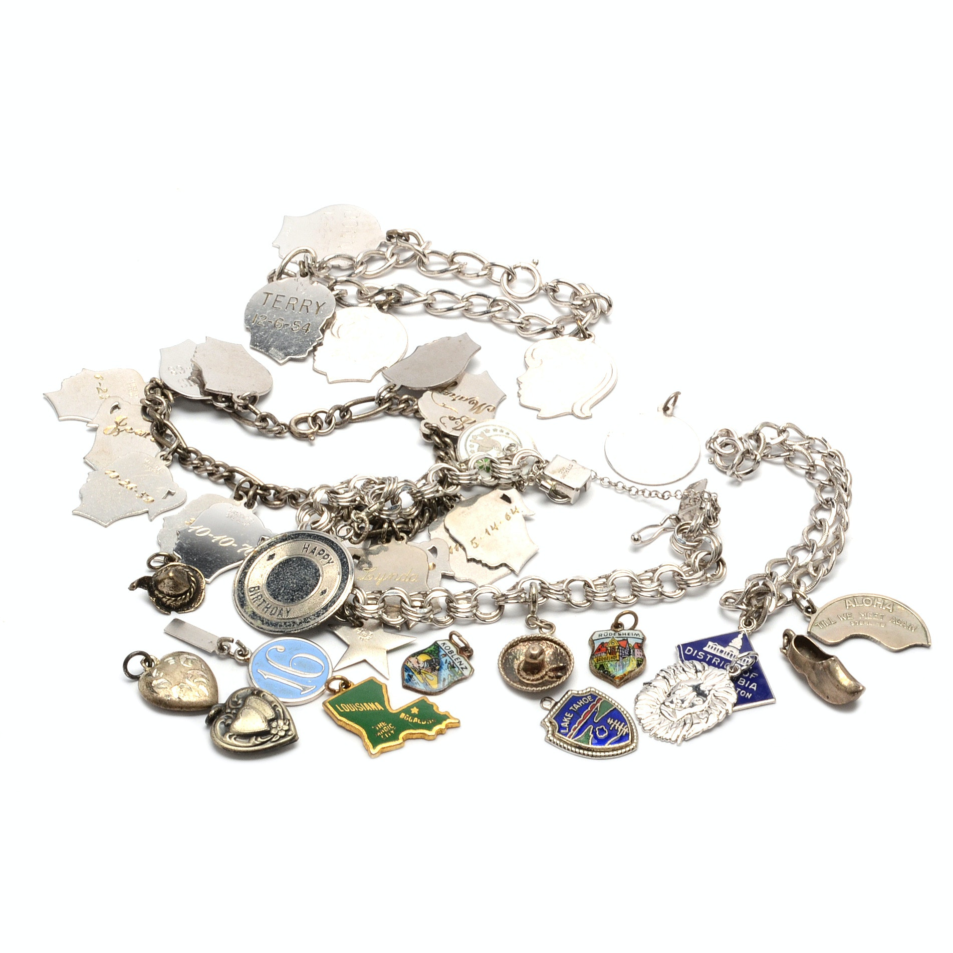 Sterling Silver Charm Bracelets and Charms