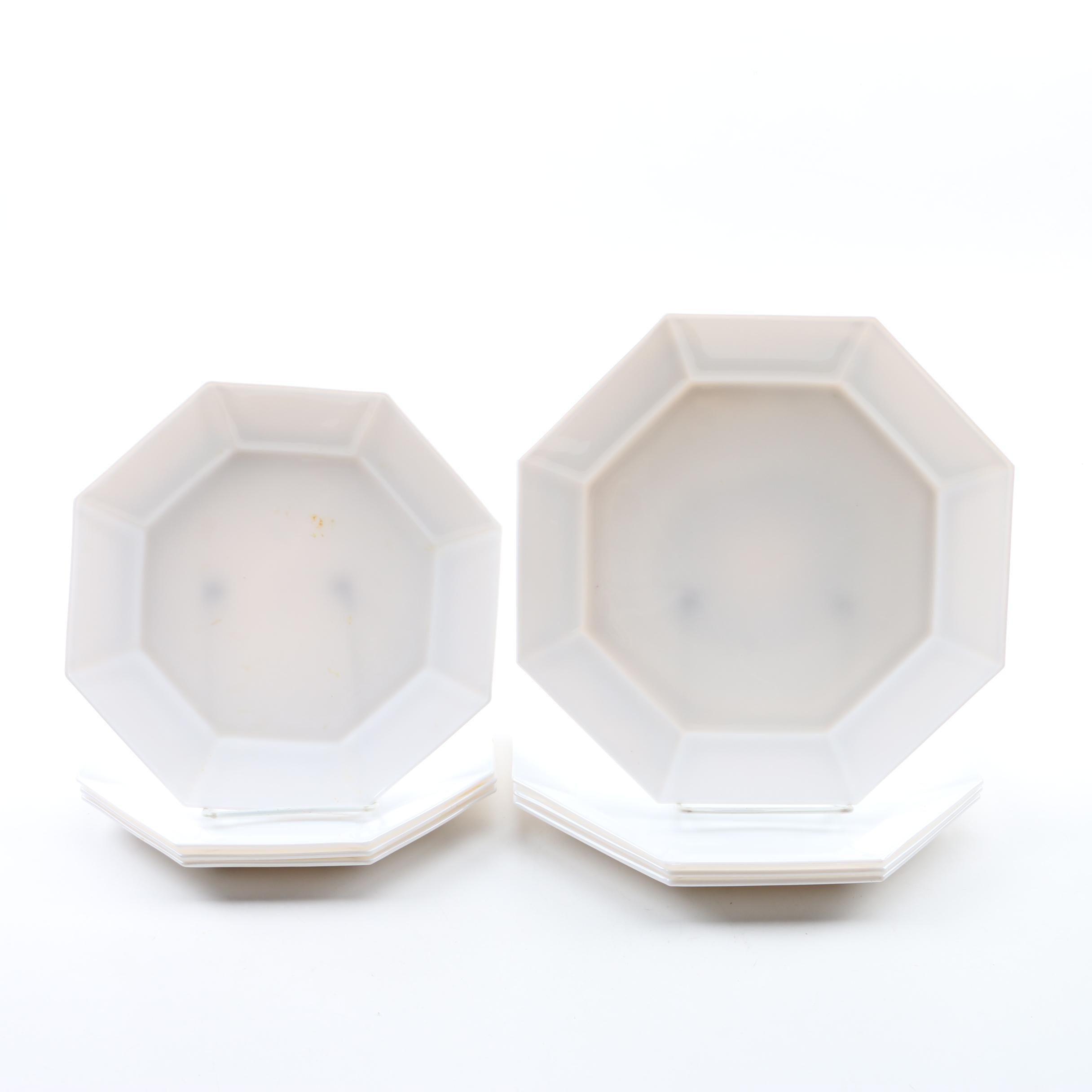 "Vintage Arcopal ""Novoctime White"" Glass Plates"