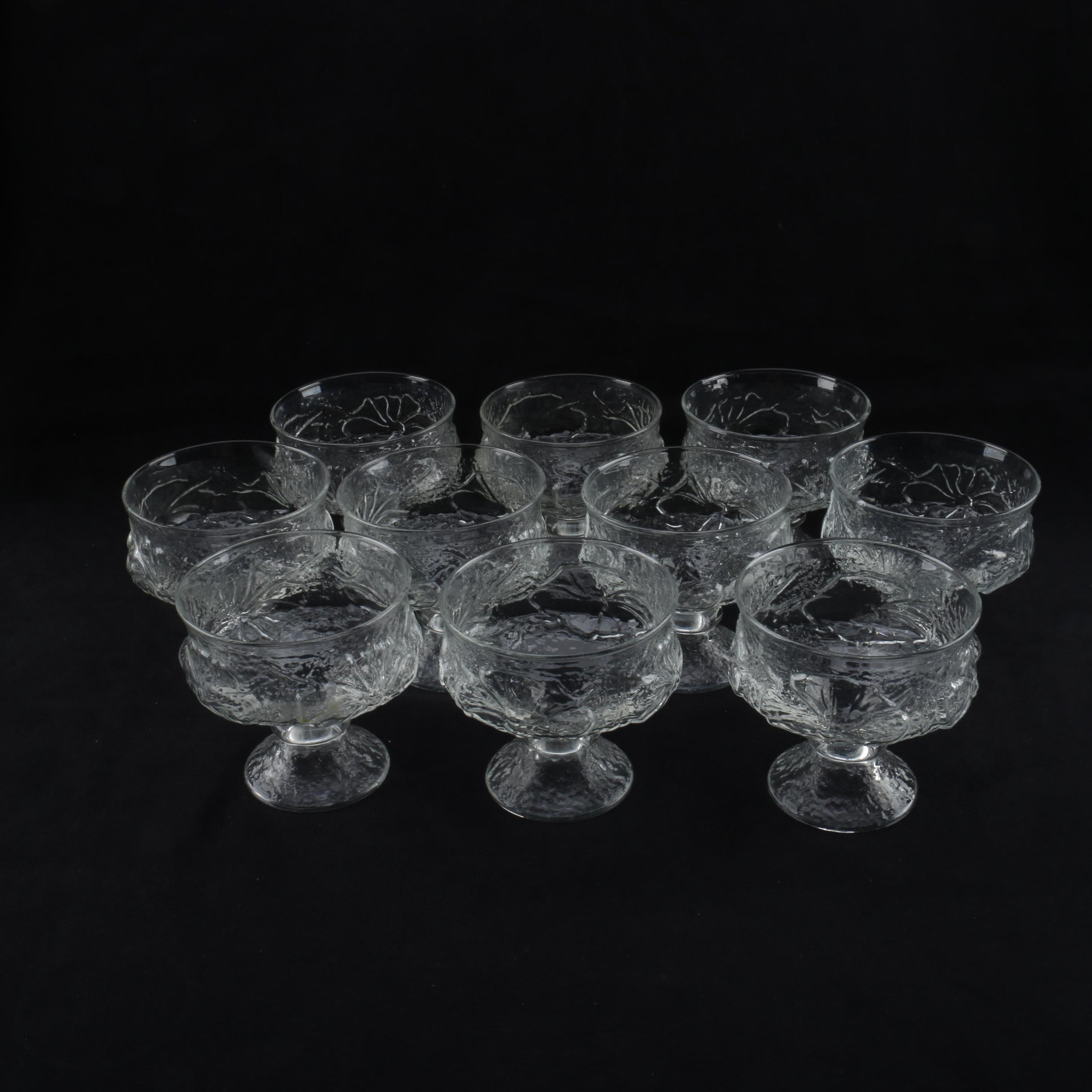 Mid Century Pressed Glass Sherbets